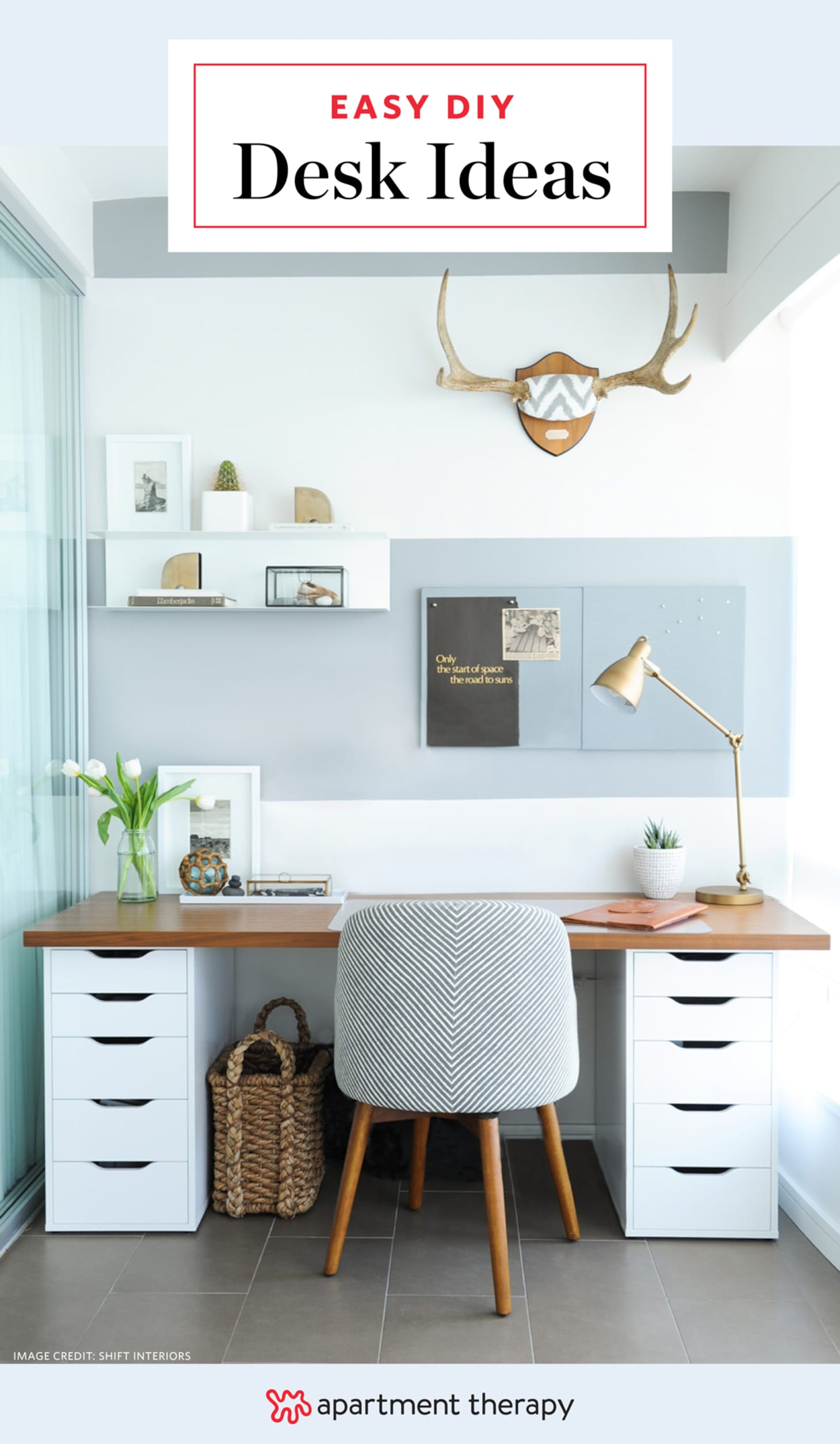 Quick Easy Diy Desk Ideas Projects Apartment Therapy