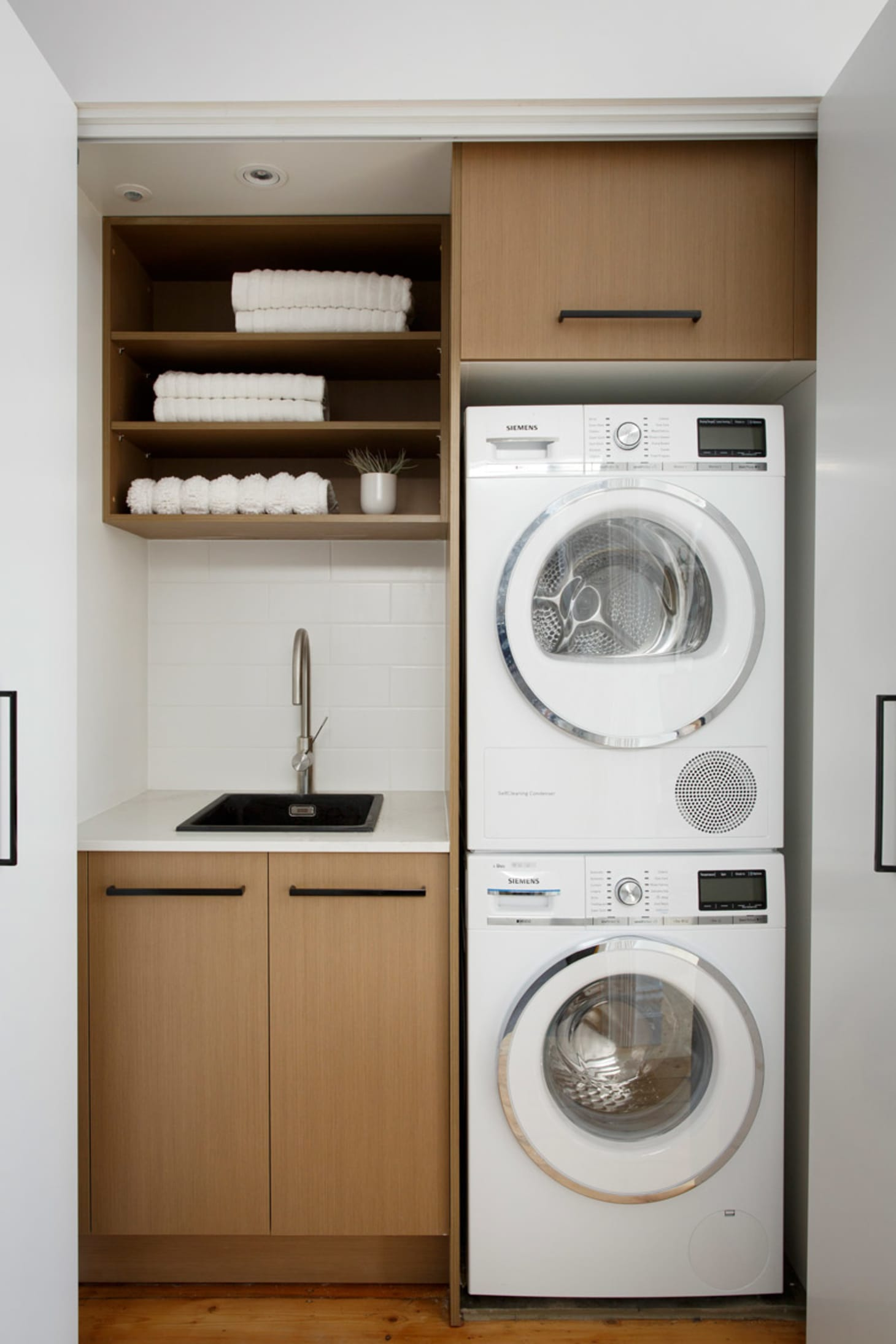 Small Laundry Room Remodeling and Storage Ideas ... on Small Laundry Ideas  id=35949