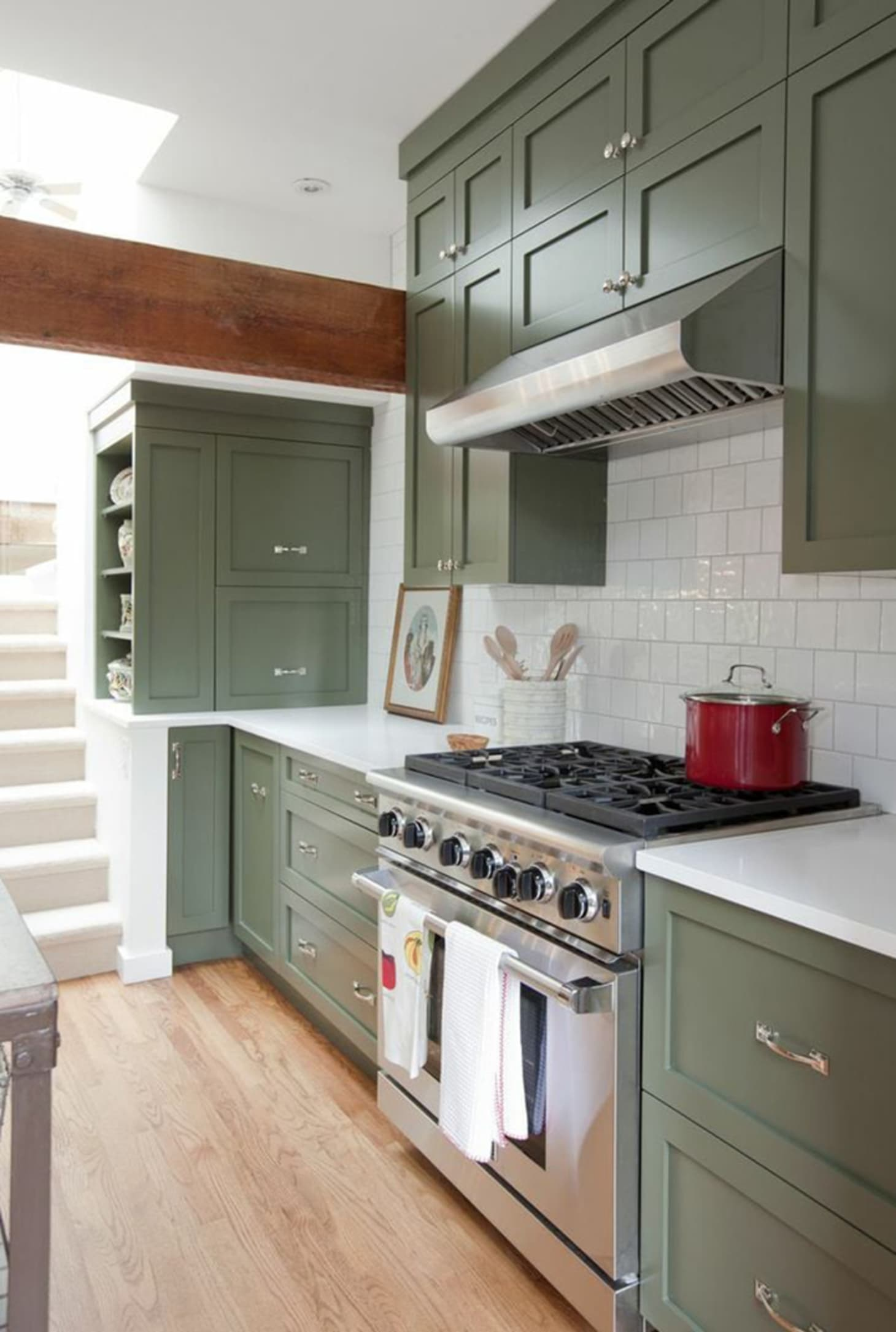 Green Painted Kitchen Cabinets We Love Right Now | Apartment ...