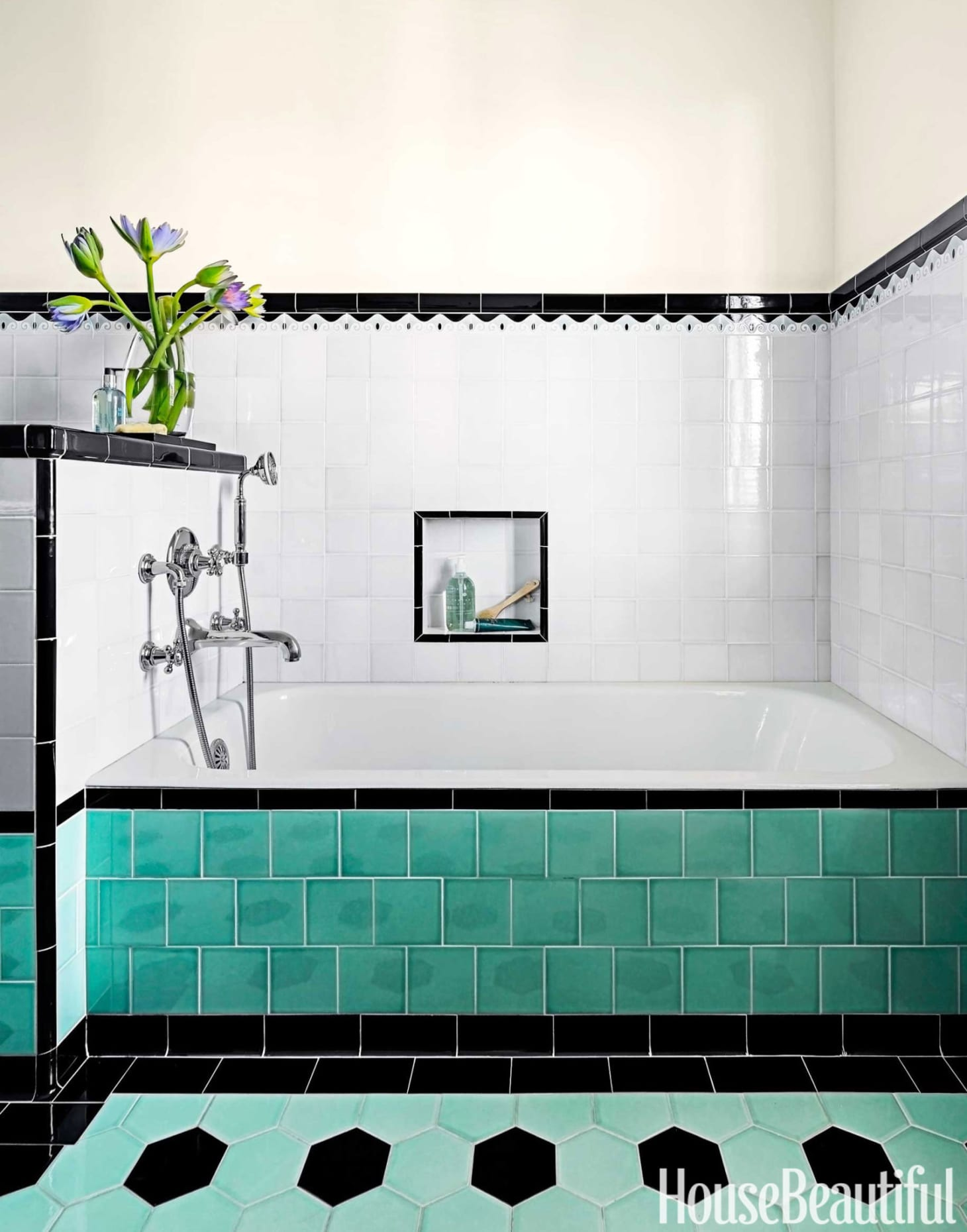 Super Brand New Colorful Bathrooms That Look Vintage Or Retro Download Free Architecture Designs Jebrpmadebymaigaardcom