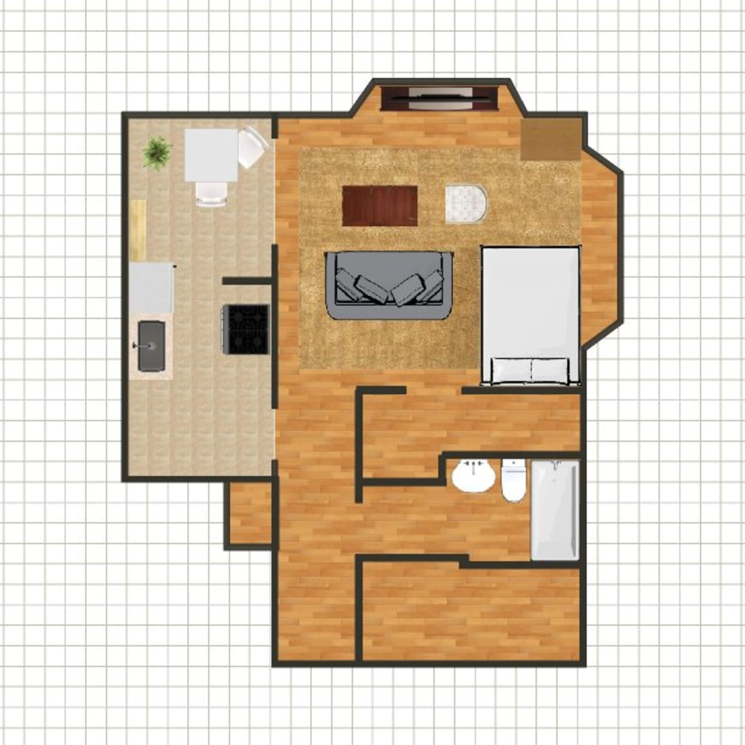 This what you can really expect from spaces smaller than - What does 500 square feet look like ...