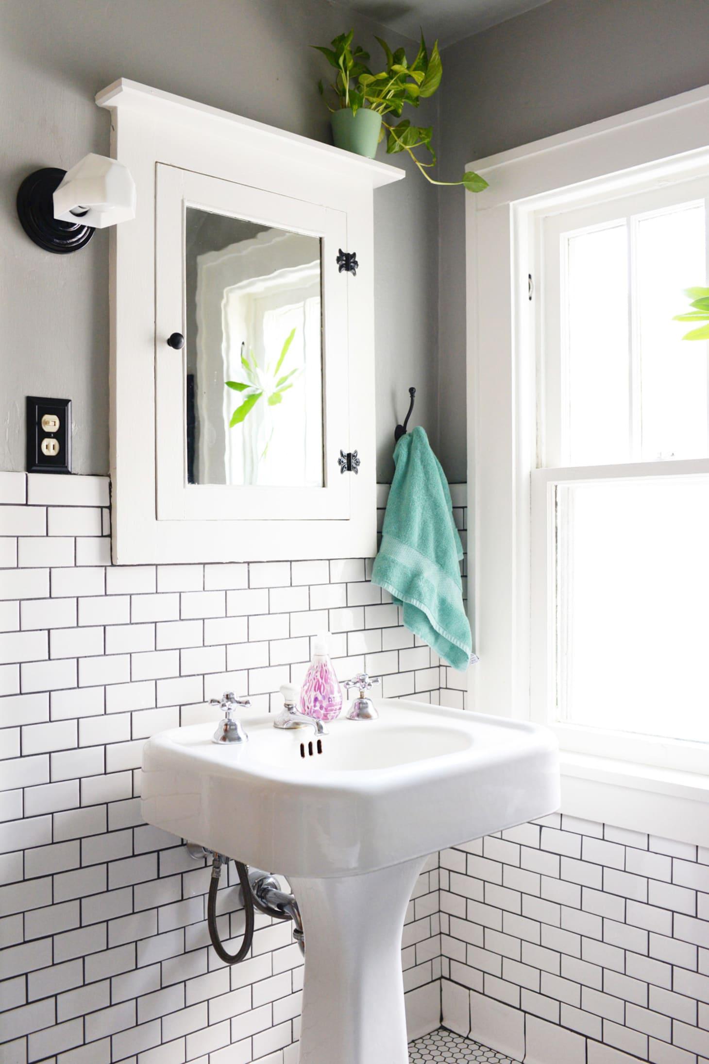 A Craftsman Bathroom Gets A Clean Classic Remodel