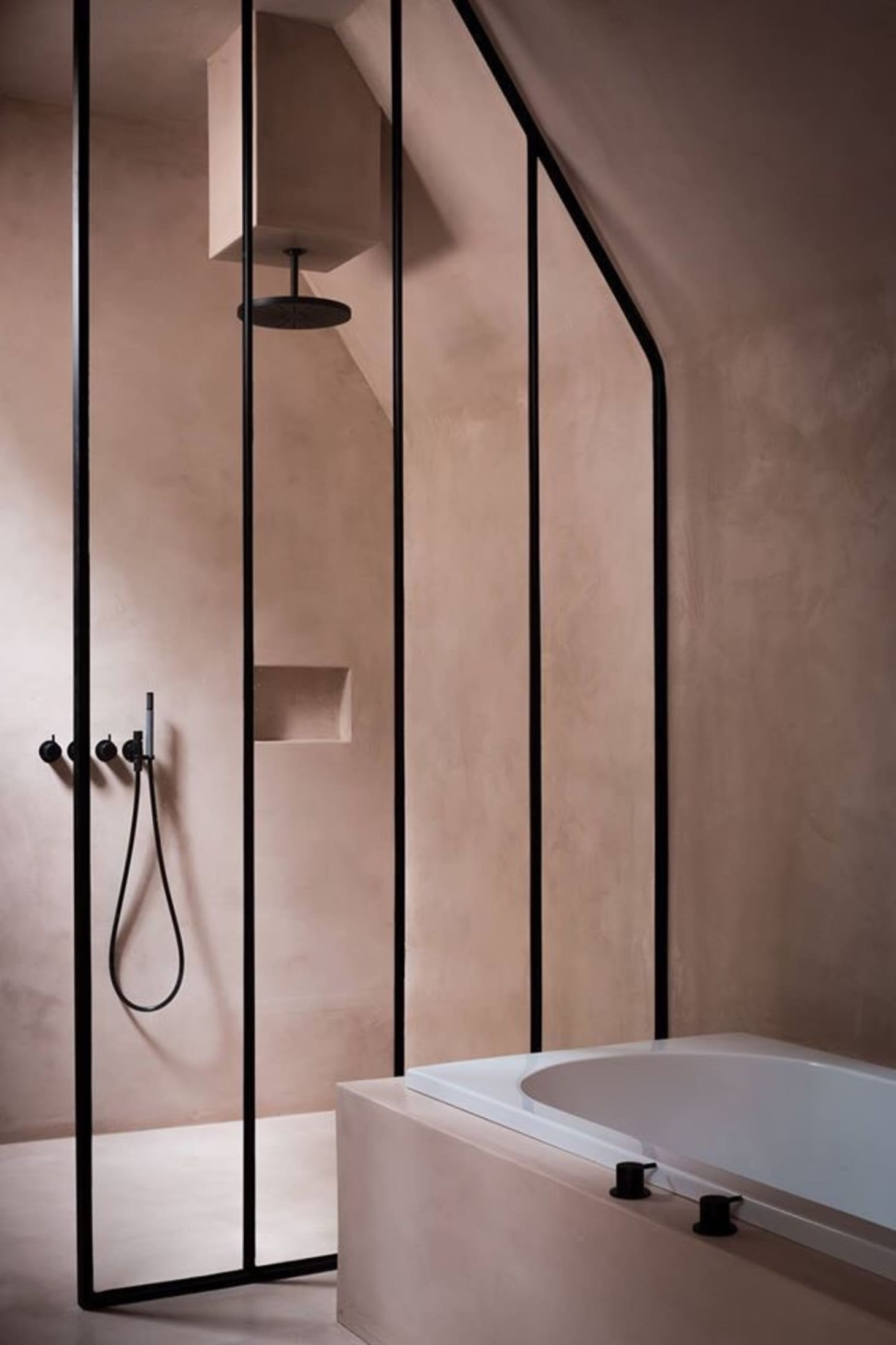 9 Modern Sophisticated Pink Bathrooms Apartment Therapy