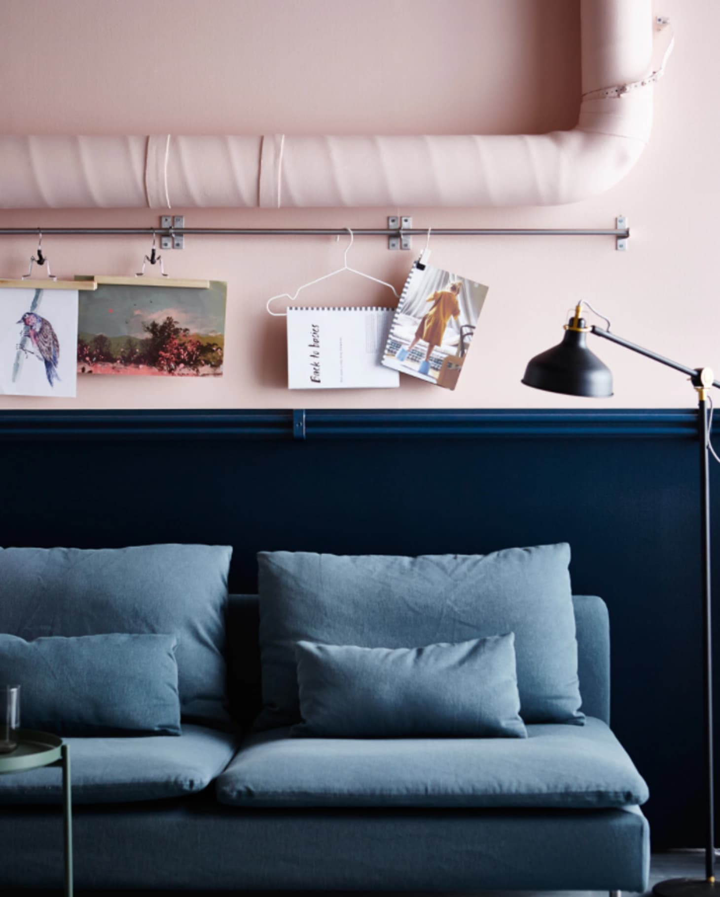 Color Trend: How to Decorate with Blush Pink & Dark Blue ...