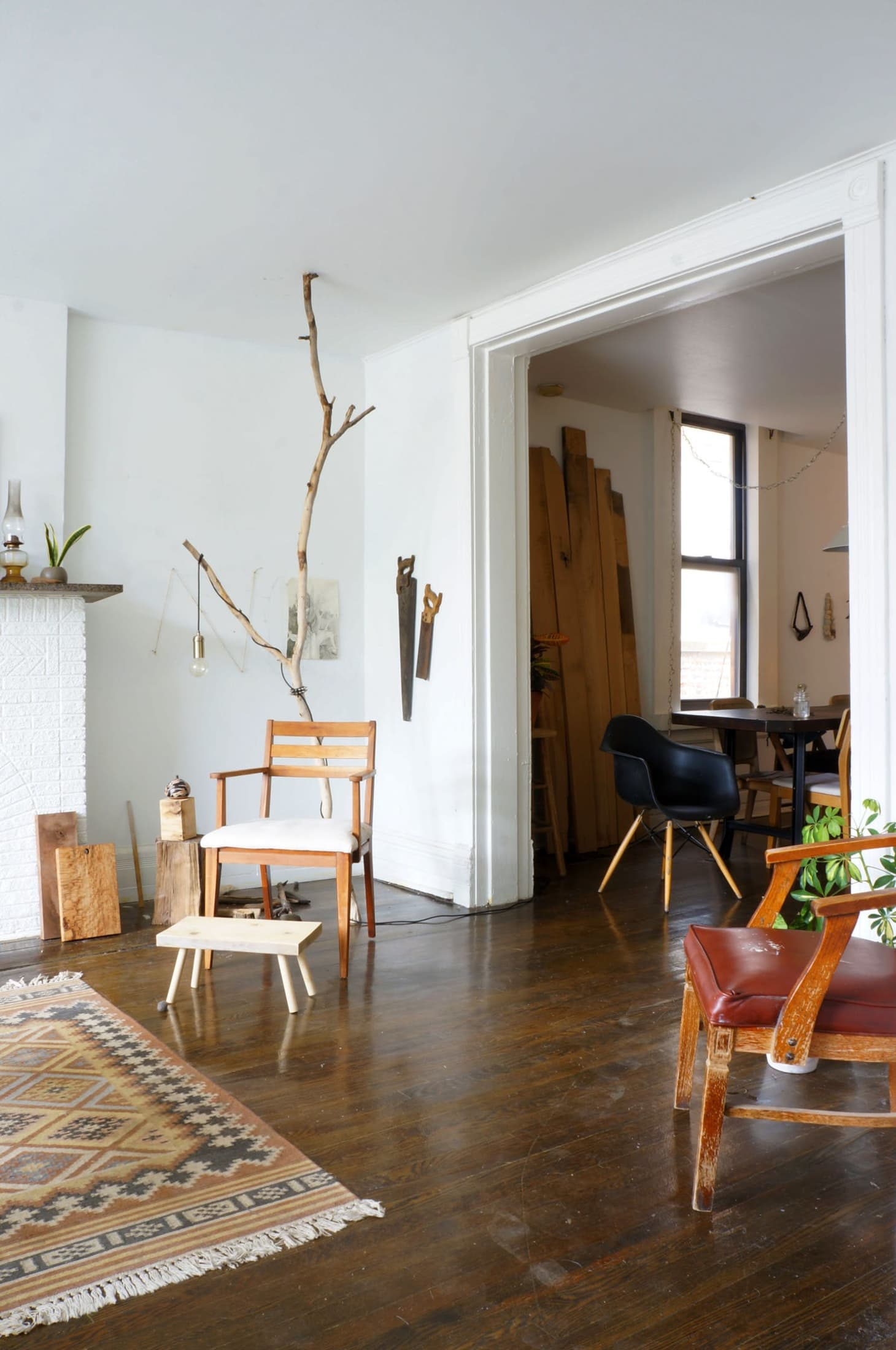 One Of A Kind Style A Diy Tree Branch Floor Lamp