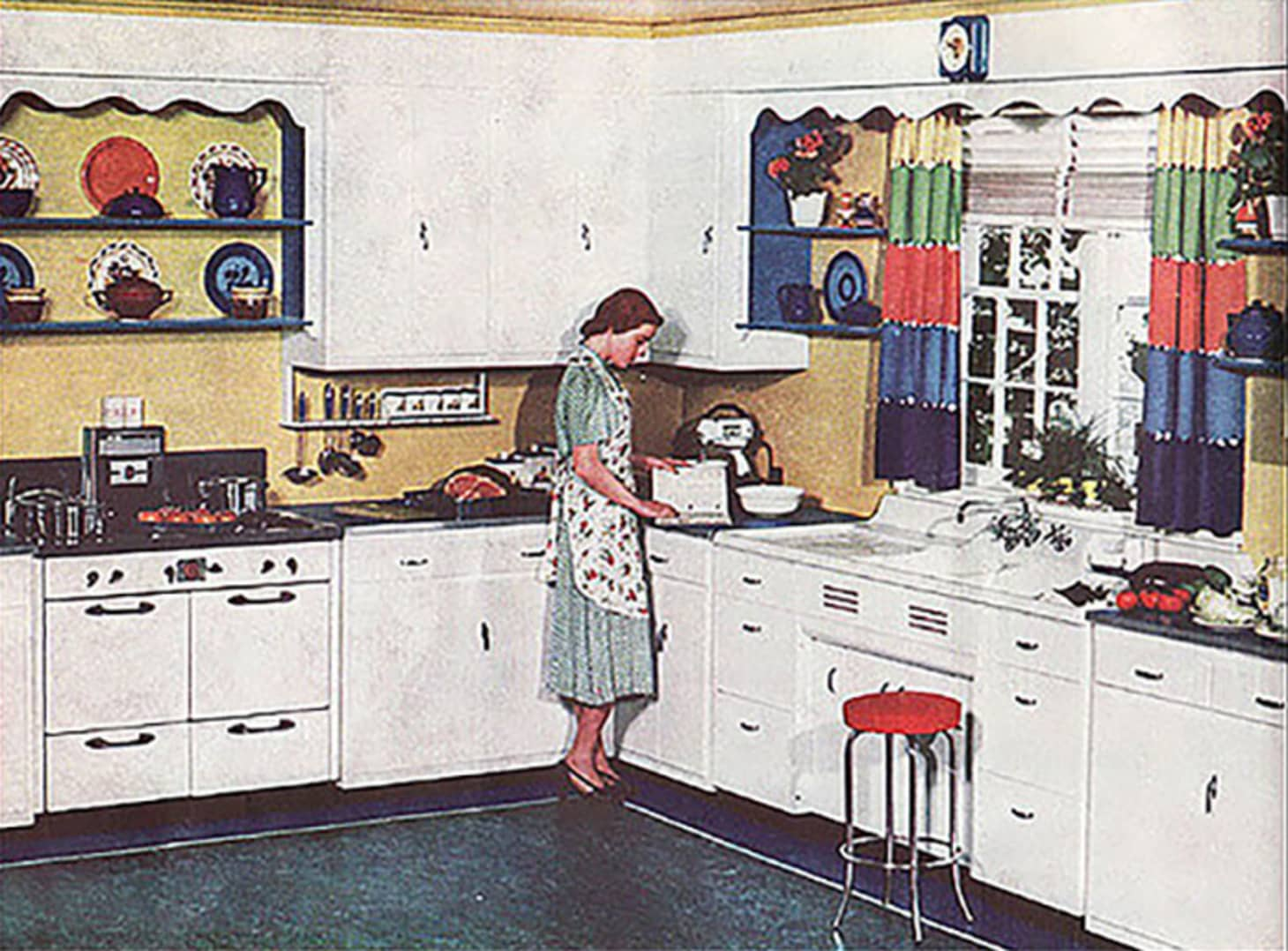 A Brief History of Kitchen Design from the 1930s to 1940s ... on chinese kitchen ideas, outdated kitchen ideas, easy install kitchen backsplash ideas, italy kitchen ideas, pine kitchen ideas, retro kitchen ideas, saltbox kitchen ideas, high gloss black kitchen ideas, craft kitchen ideas, fiesta kitchen ideas, exotic kitchen ideas, stained kitchen ideas, glass kitchen ideas, pewter kitchen ideas, mahogany kitchen ideas, vintage small kitchen ideas, rustic kitchen ideas, country kitchen ideas, furniture kitchen ideas, california kitchen ideas,