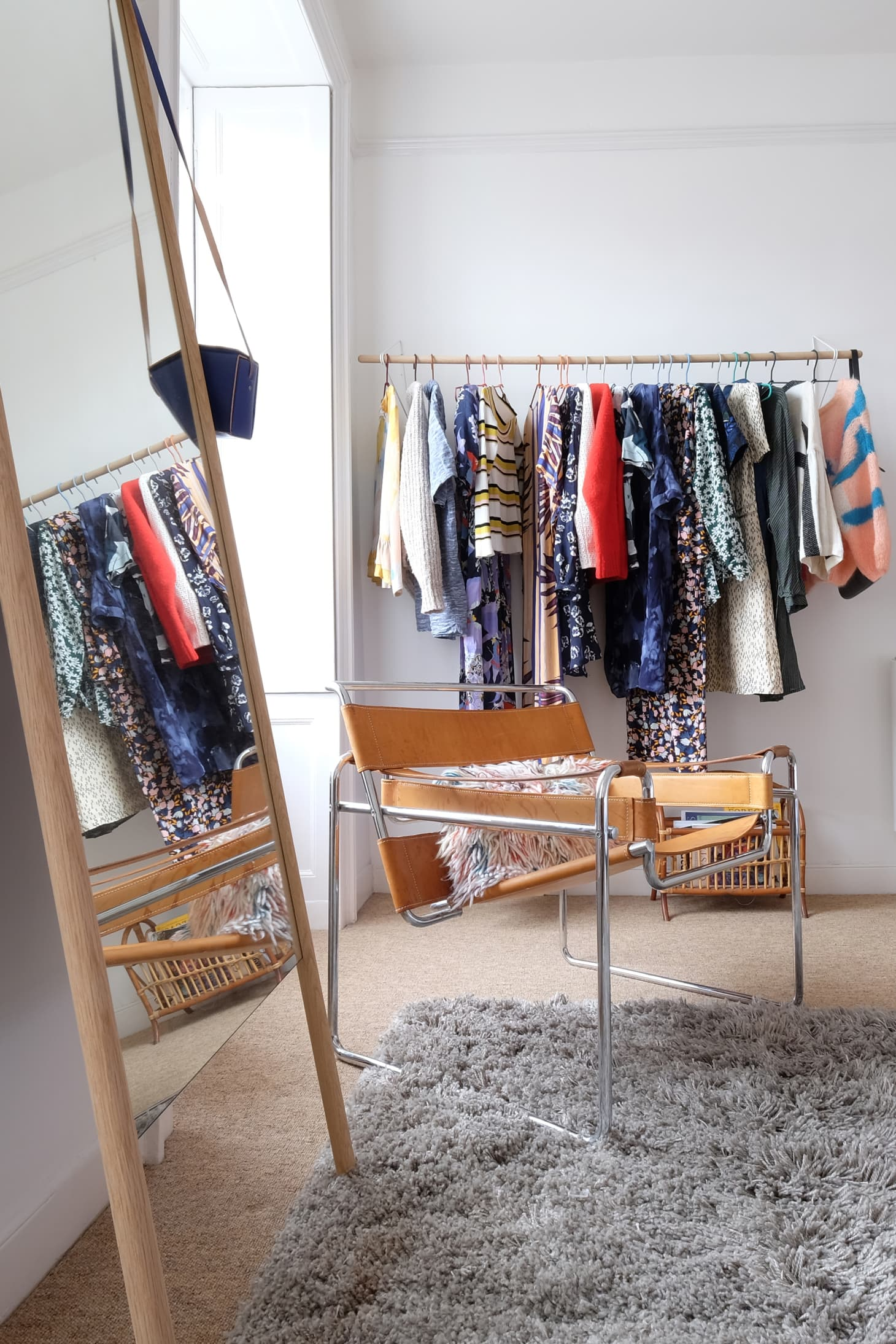 . How To Create a Bedroom  Closet  with Clothing Racks   Apartment Therapy