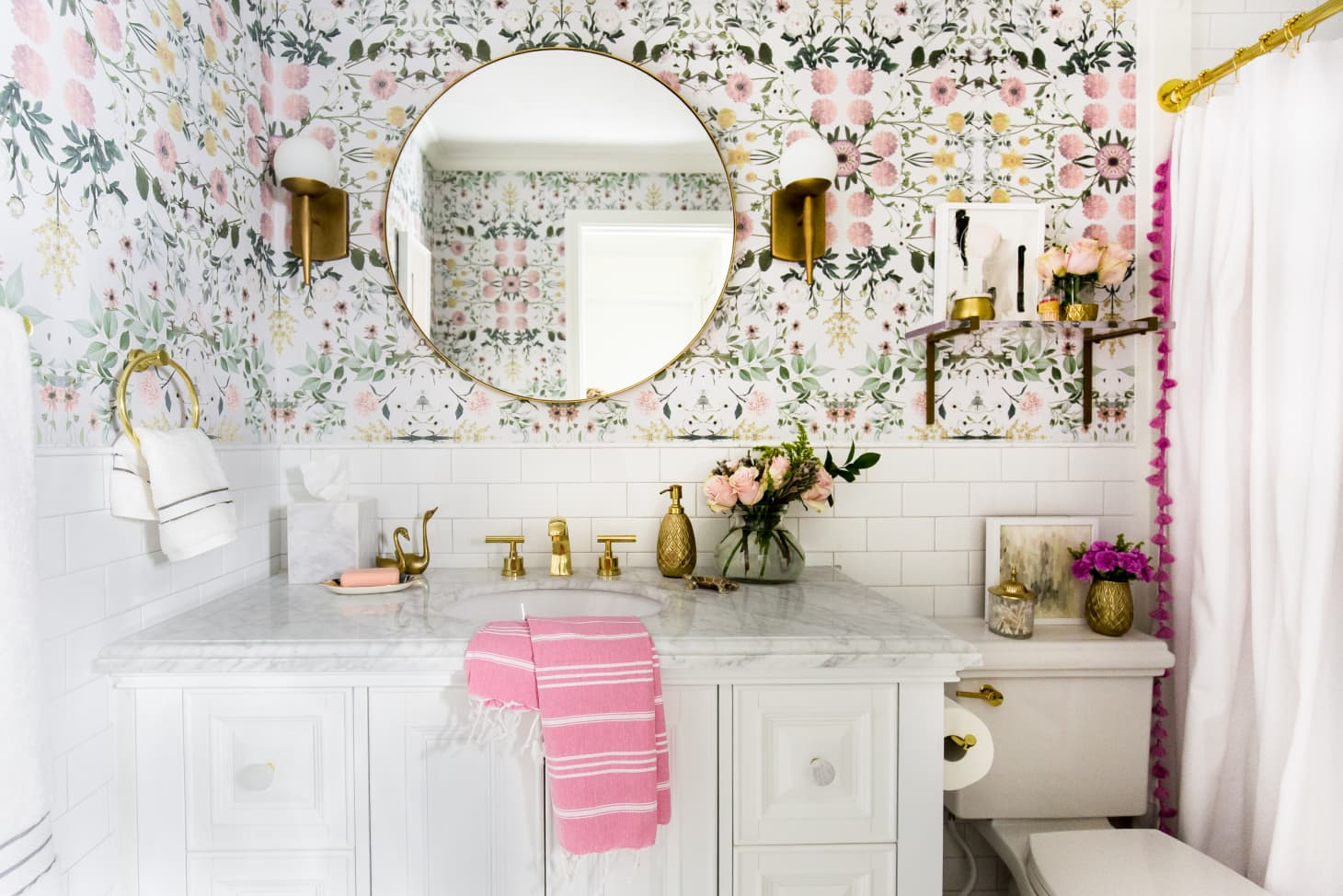 Before And After A Grey To Glam Bathroom Makeover
