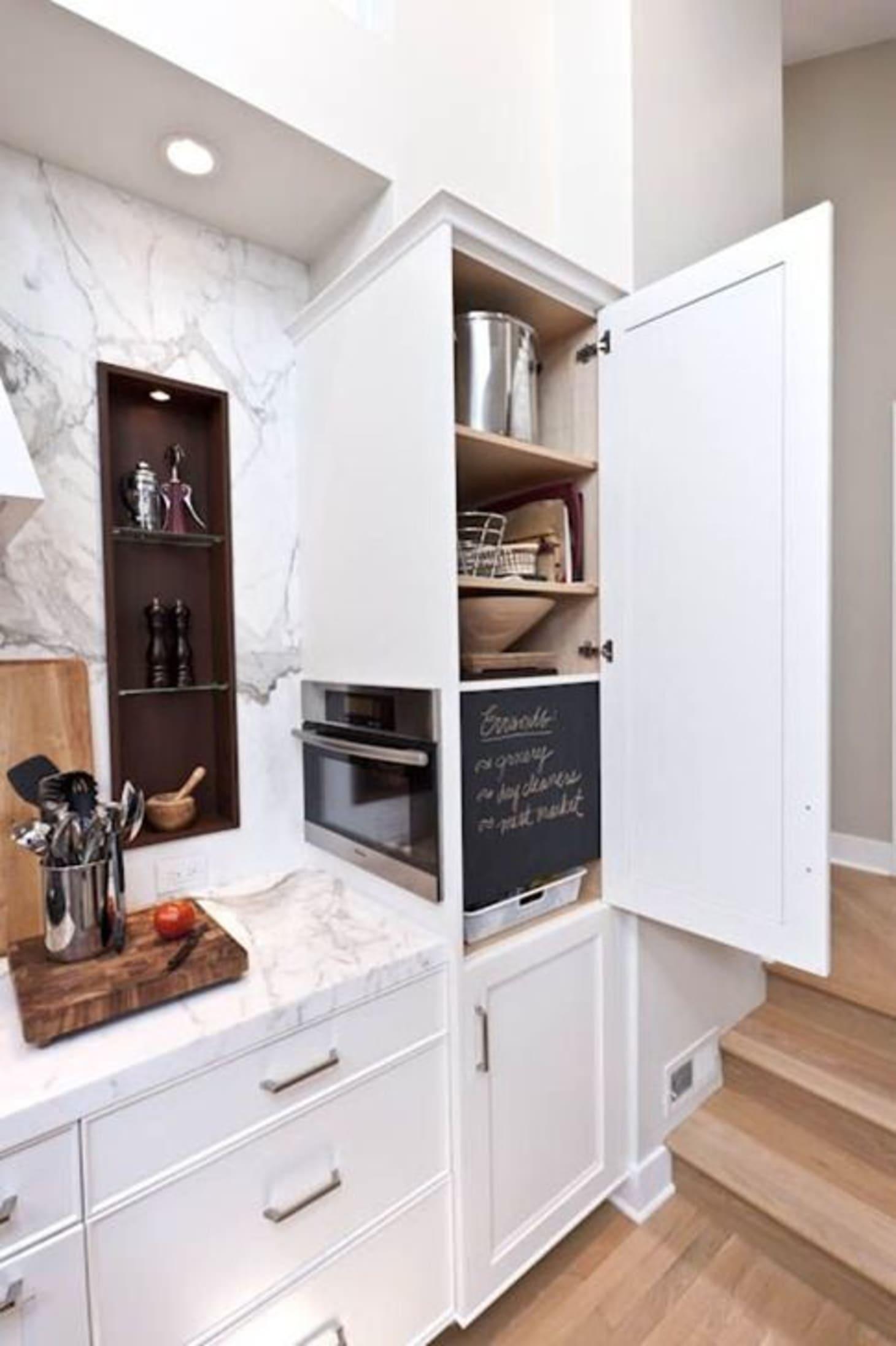 Microwaves in the Kitchen: Hidden Storage Solutions ... on kitchen hidden sink, kitchen hidden storage, kitchen hidden pantry,