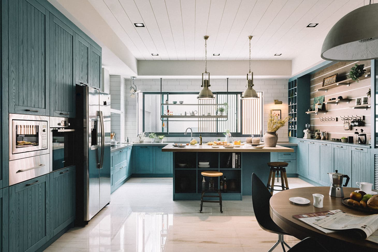 Teal Kitchen Cabinets Are Suddenly Everywhere | Apartment ...