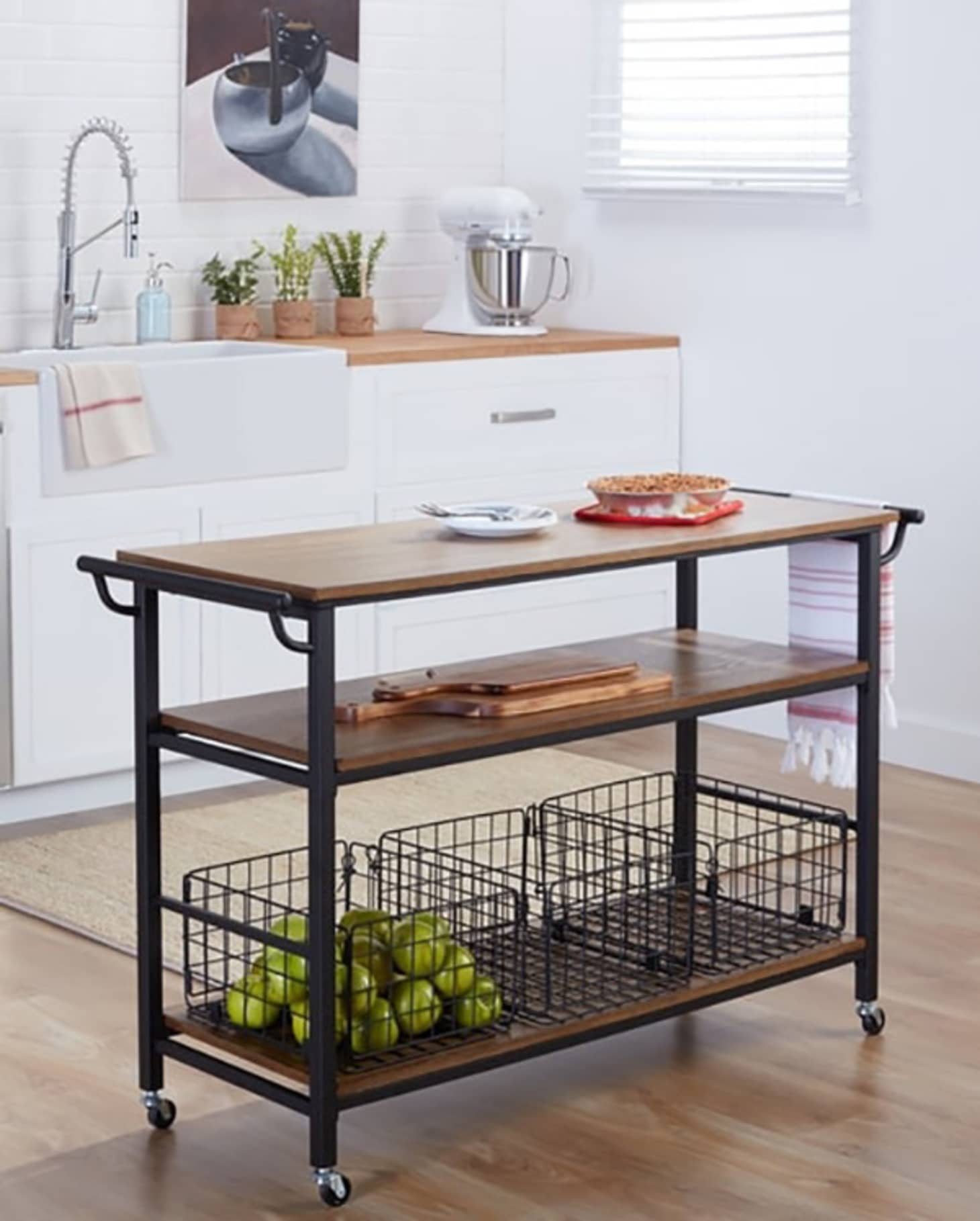 Miraculous Kitchen Island Carts Add Extra Storage And Surfaces Download Free Architecture Designs Scobabritishbridgeorg