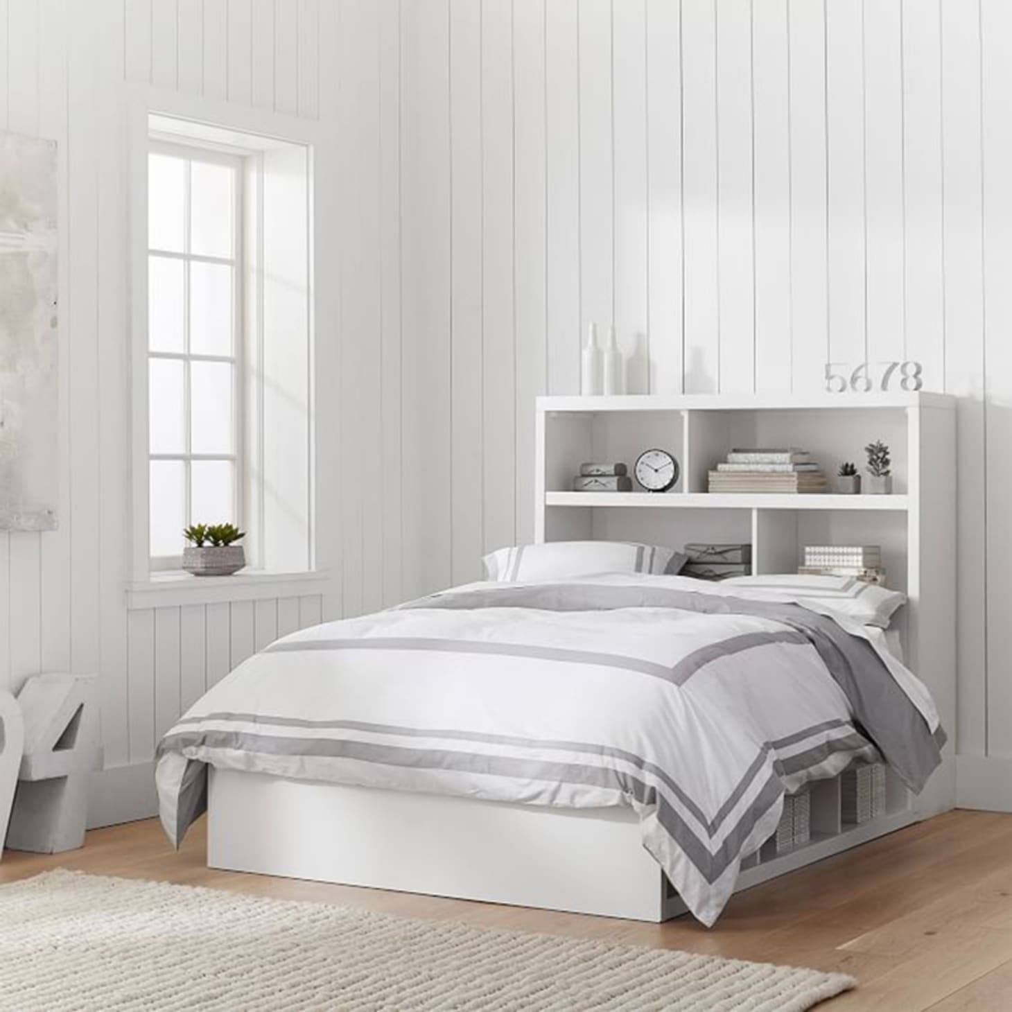 Bookcase Headboard Storage Ideas By Budget Apartment Therapy