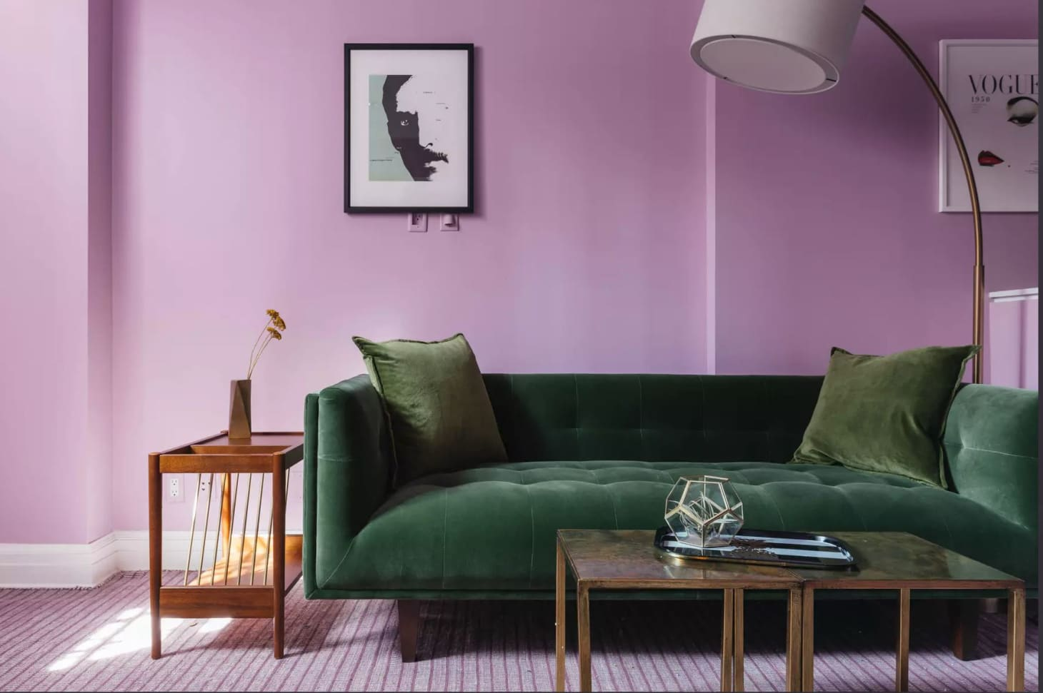 2018 Room Color Trends Lavender Mustard Yellow