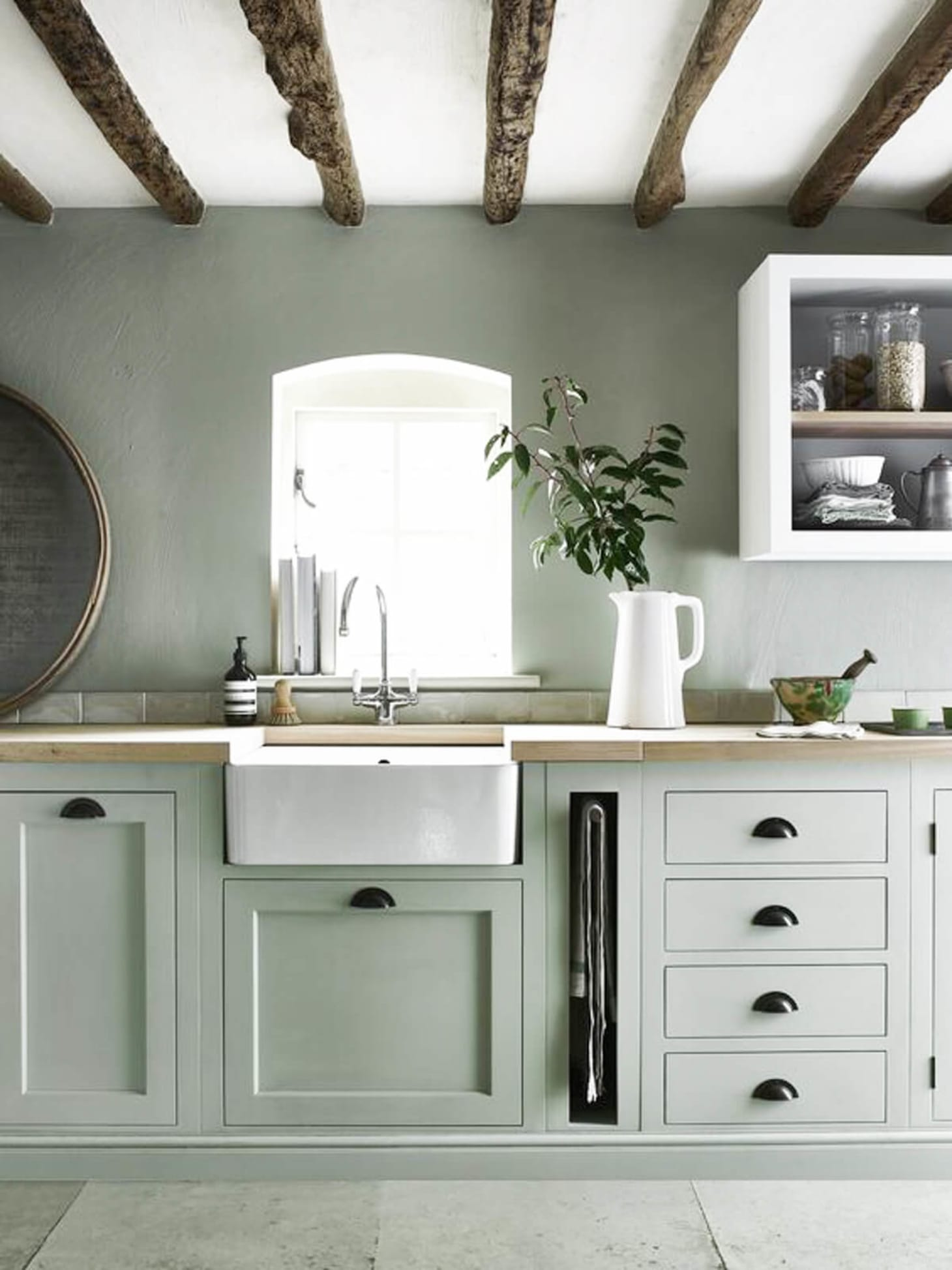 amusing green kitchen paint colors white cabinets | 2018 Paint Trends - Kitchen Cabinet Color Predictions ...