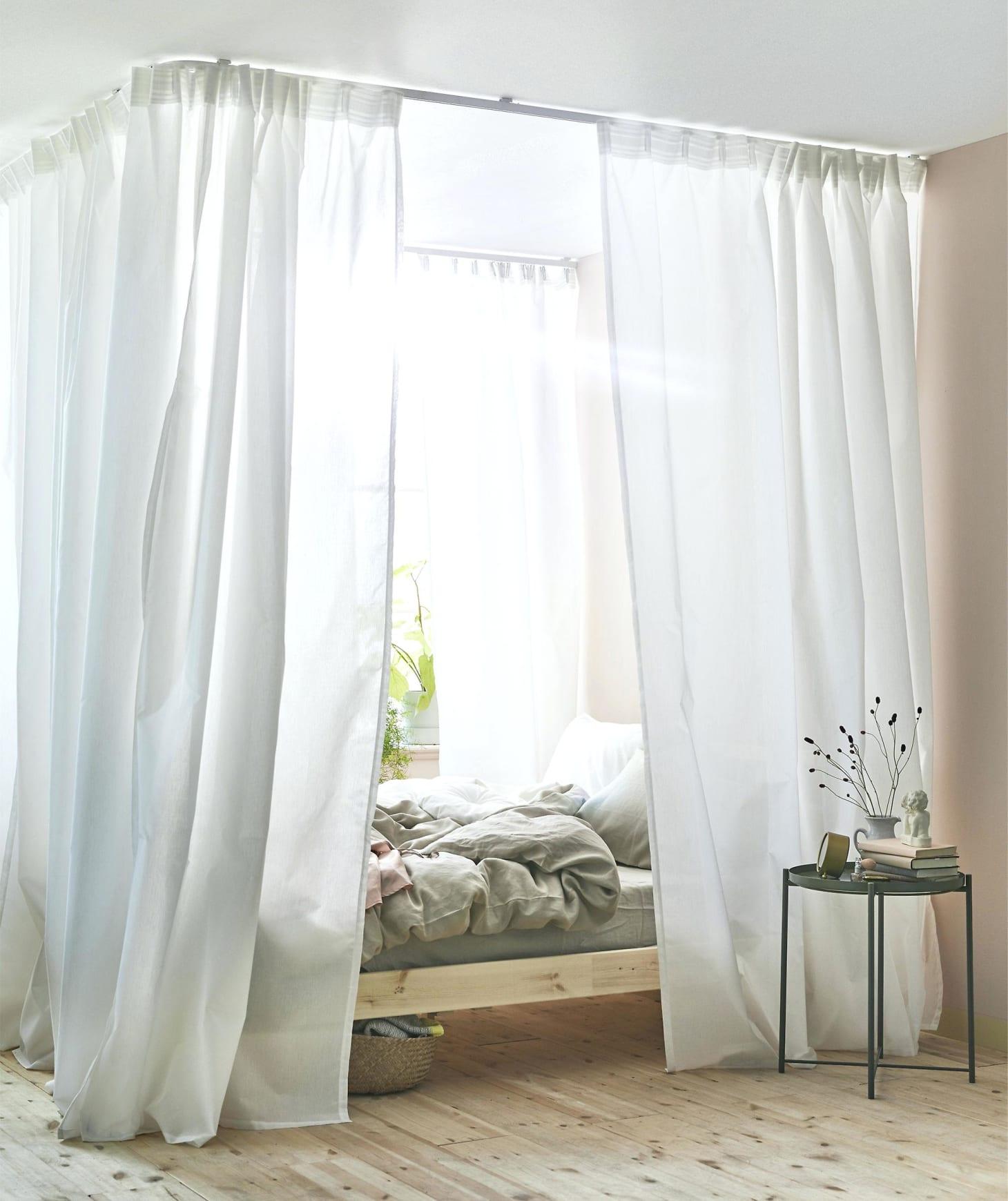 . IKEA Hacks   DIY Platform Bed  Curtains  Storage   Apartment Therapy
