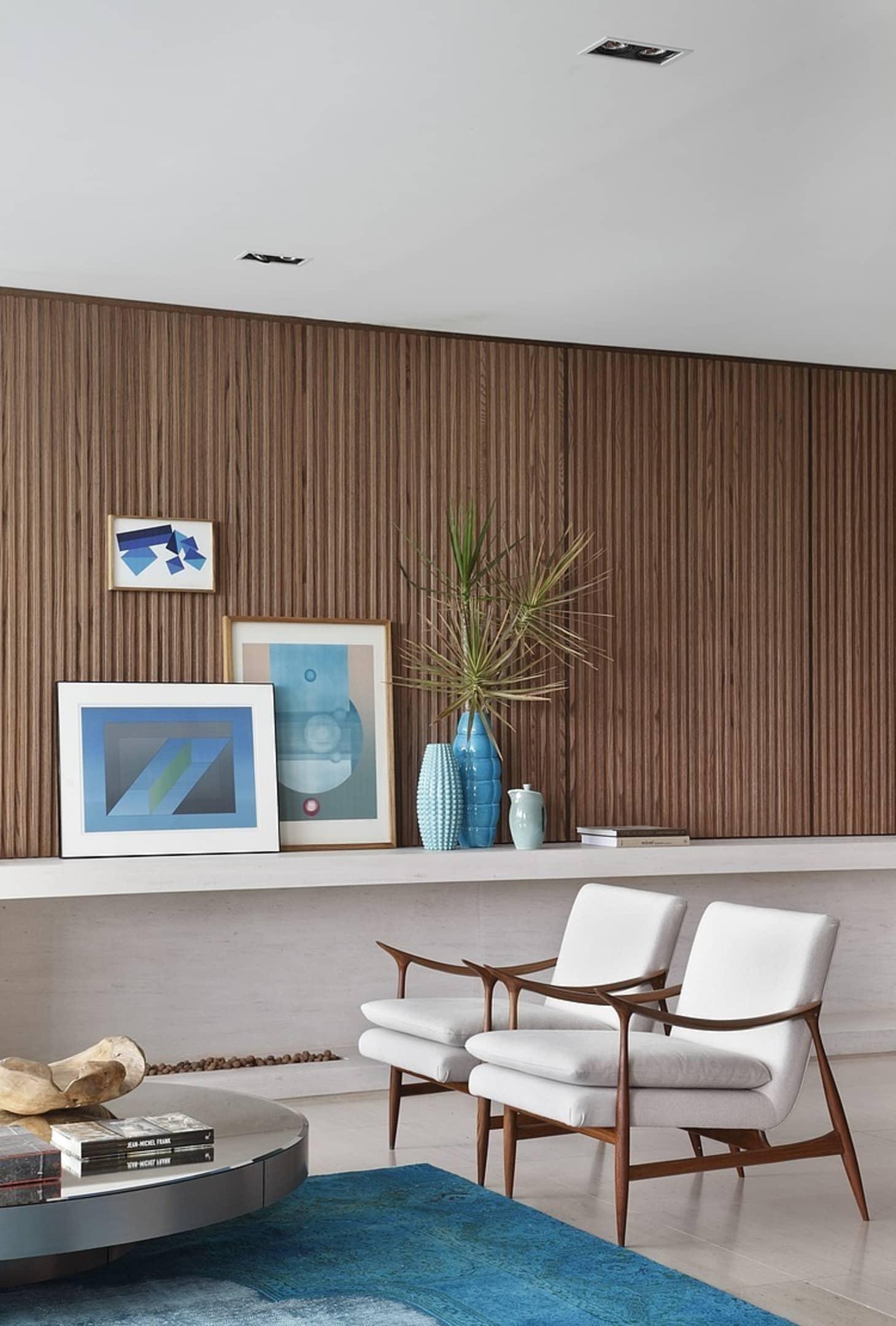 Living Room Walls Wood Panels: Modern Shiplap Alternative