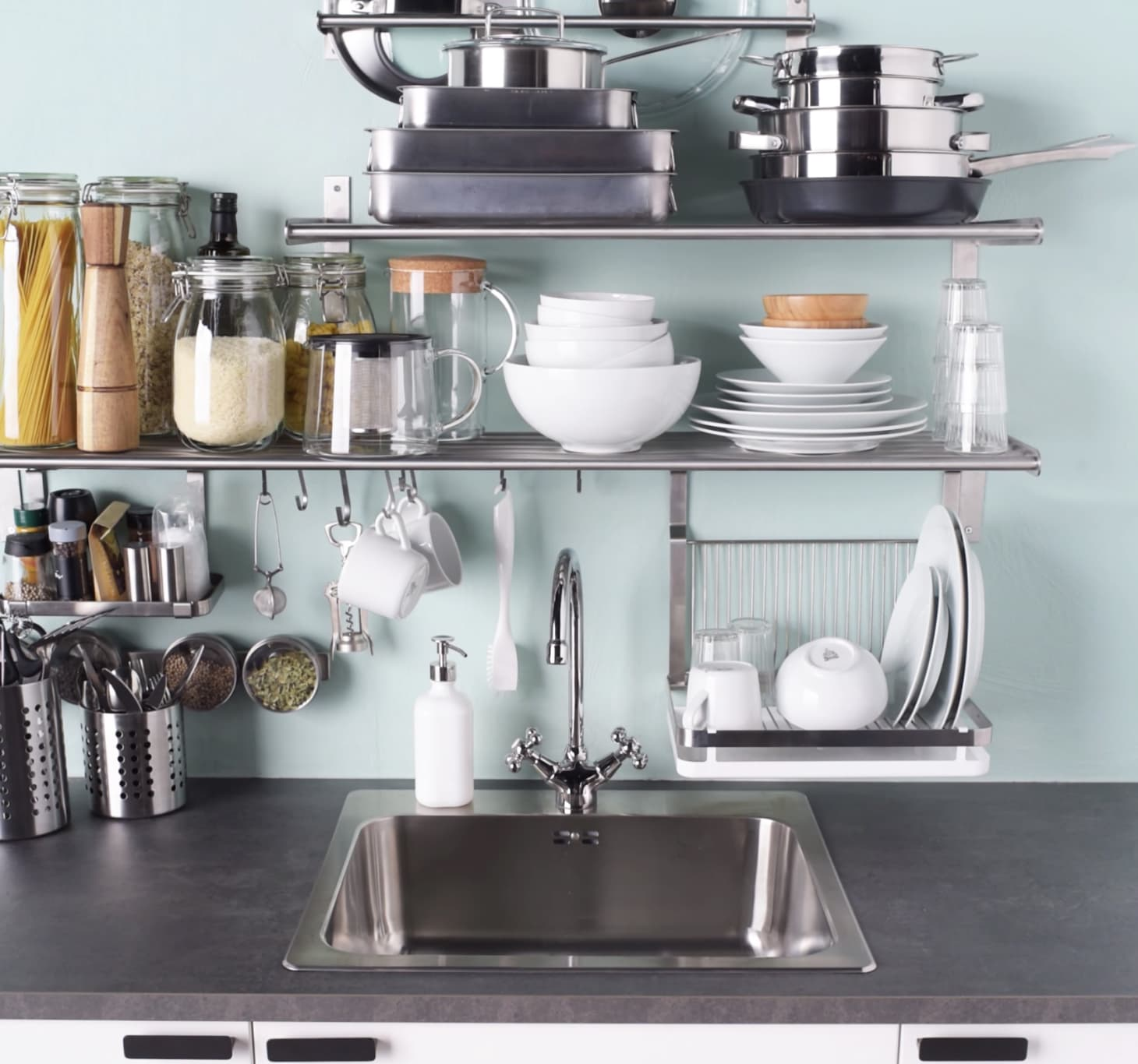 IKEA GRUNDTAL Kitchen Organizing Ideas | Apartment Therapy on updated kitchen remodels, updated kitchen walls, updated decorating ideas, updated small kitchens, updated living rooms, updated cabinet hardware, updated kitchens in old houses, updated wet bar ideas, updated kitchen lighting, updated galley kitchen, updated kitchen plans, updated kitchen flooring, updated kitchens before after, updated modern kitchens, updated white kitchens, updated bedroom ideas, updated hallway ideas, updated oak kitchen cabinets makeover, updated fireplace ideas, updated traditional decorating,