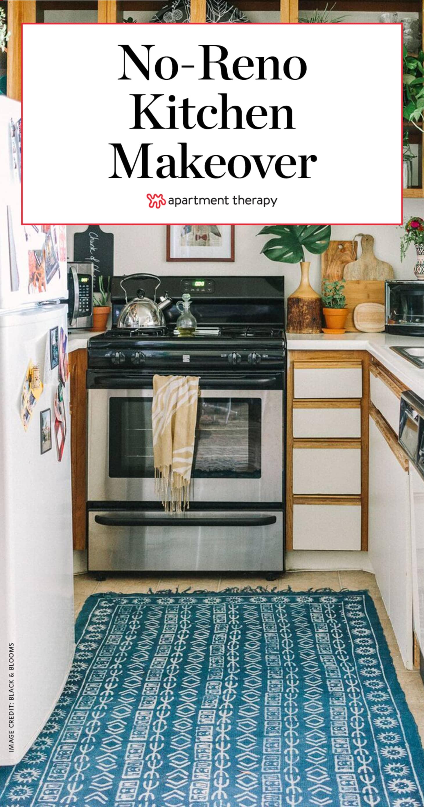 Kitchen Decor Ideas - Bohemian Rental Before After ...