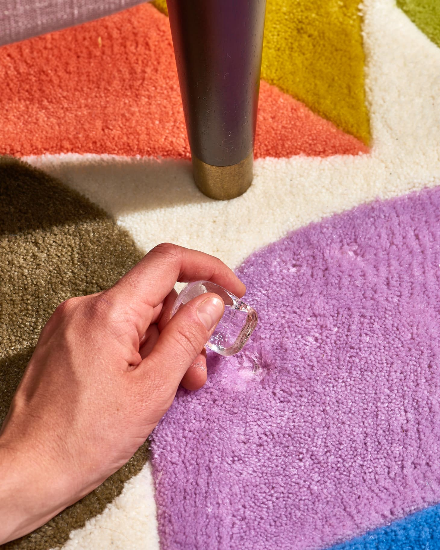 how to remove dents in carpet with ice cubes   apartment therapy