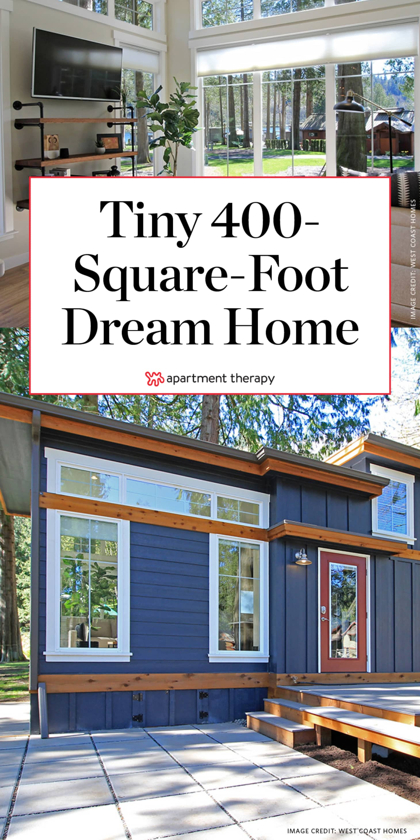Full One Bedroom Tiny House Layout 400 Square Feet