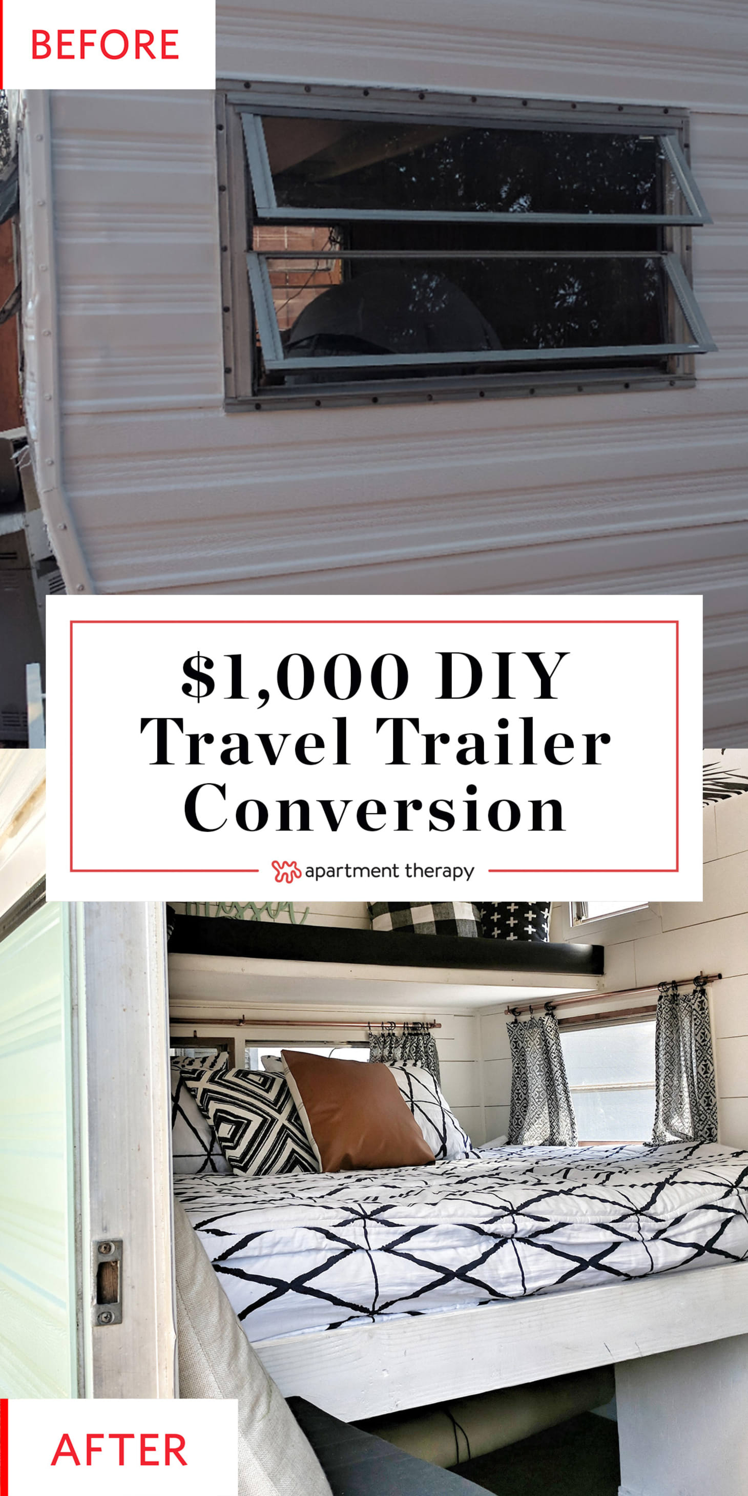 Small Travel Trailer Remodel - Vintage Layton | Apartment Therapy