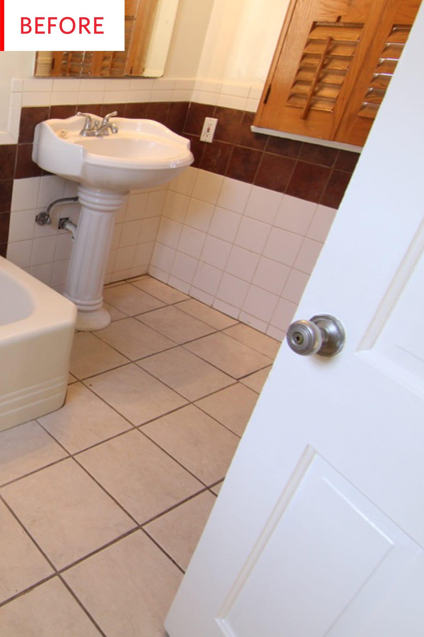Vinyl Peel And Stick Tile Decals Bathroom Remodel