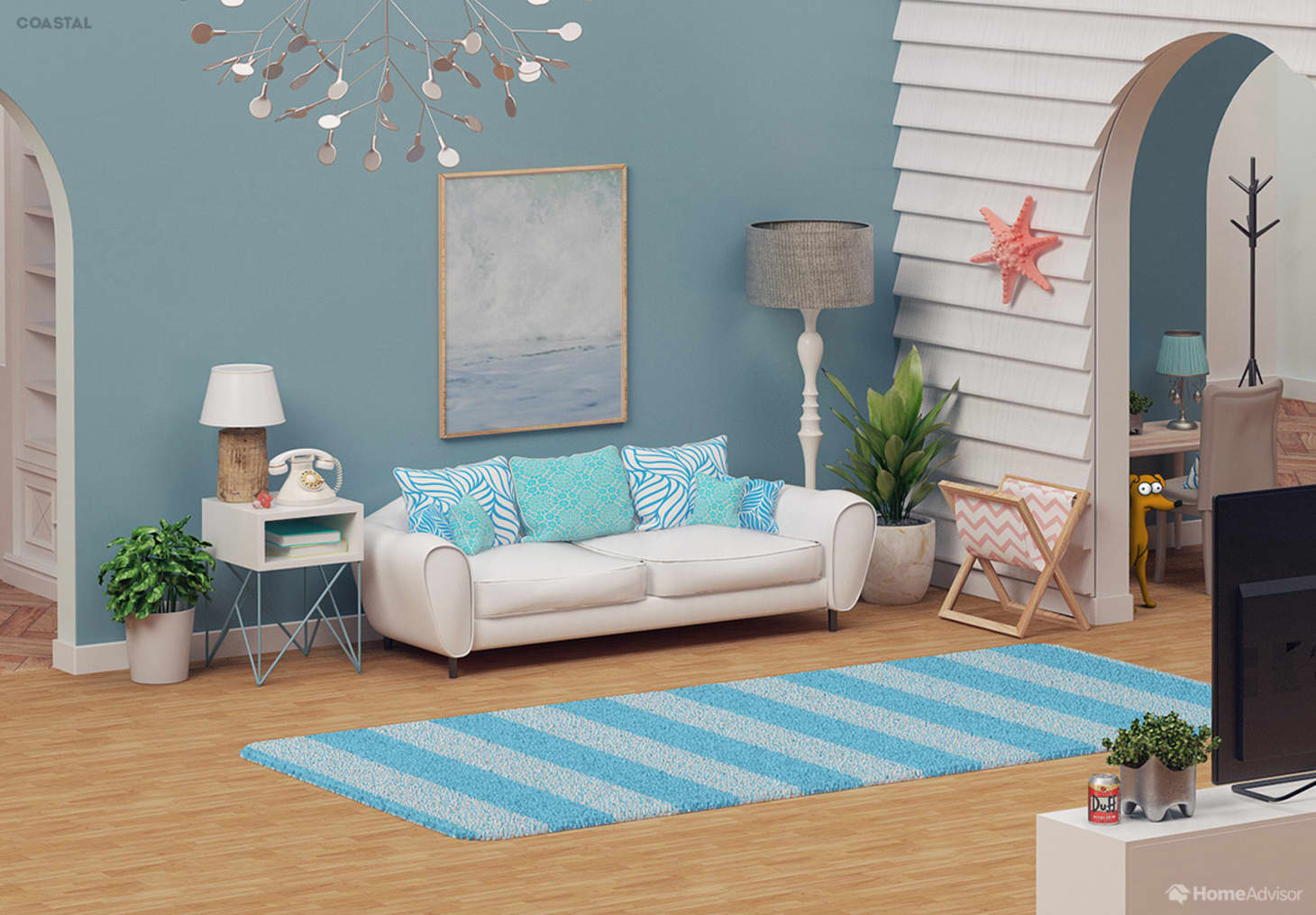 Simpsons Living Room Updated Decor Styles   Apartment Therapy