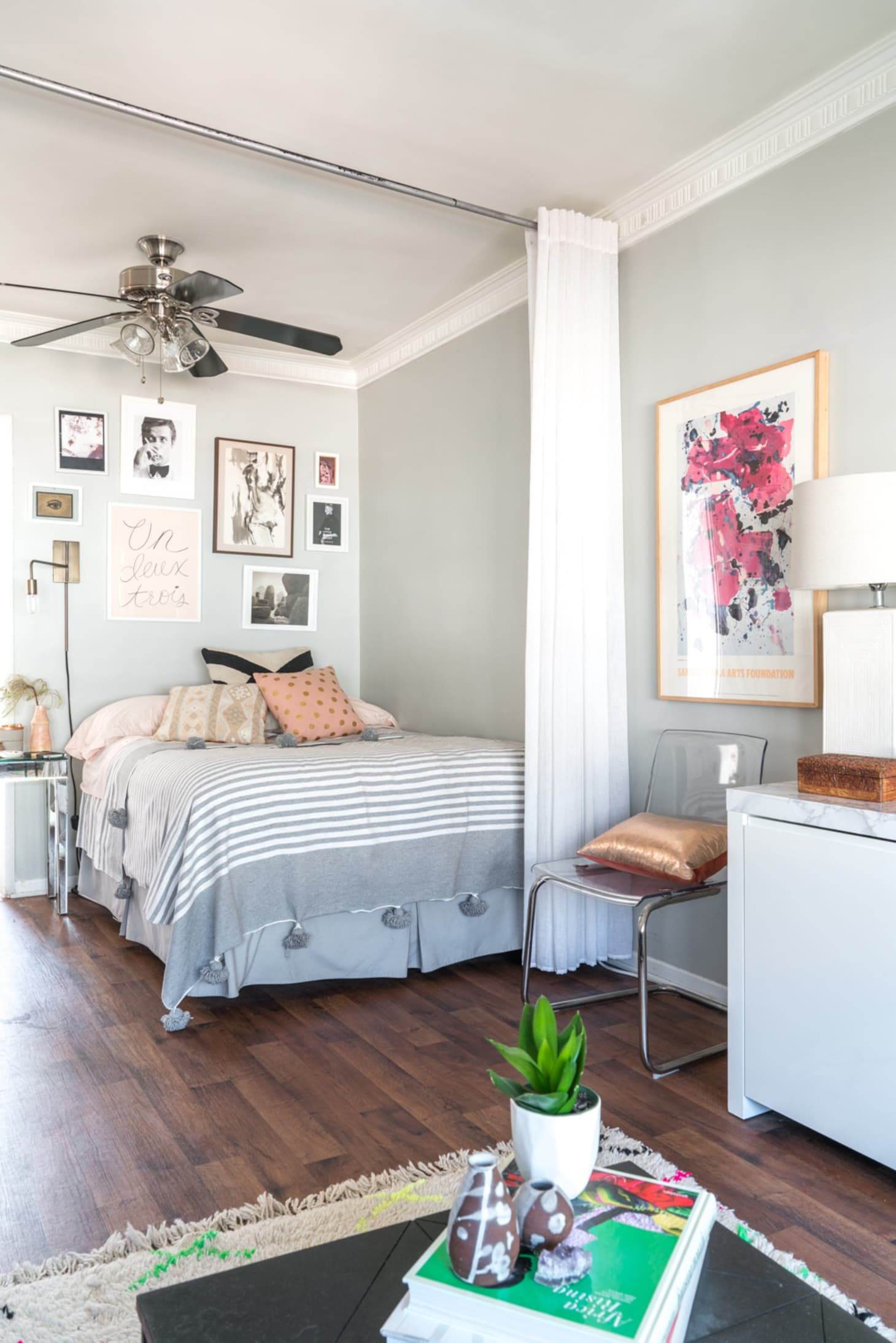 Studio Apartment Tips for Dividing a Bedroom Area ...