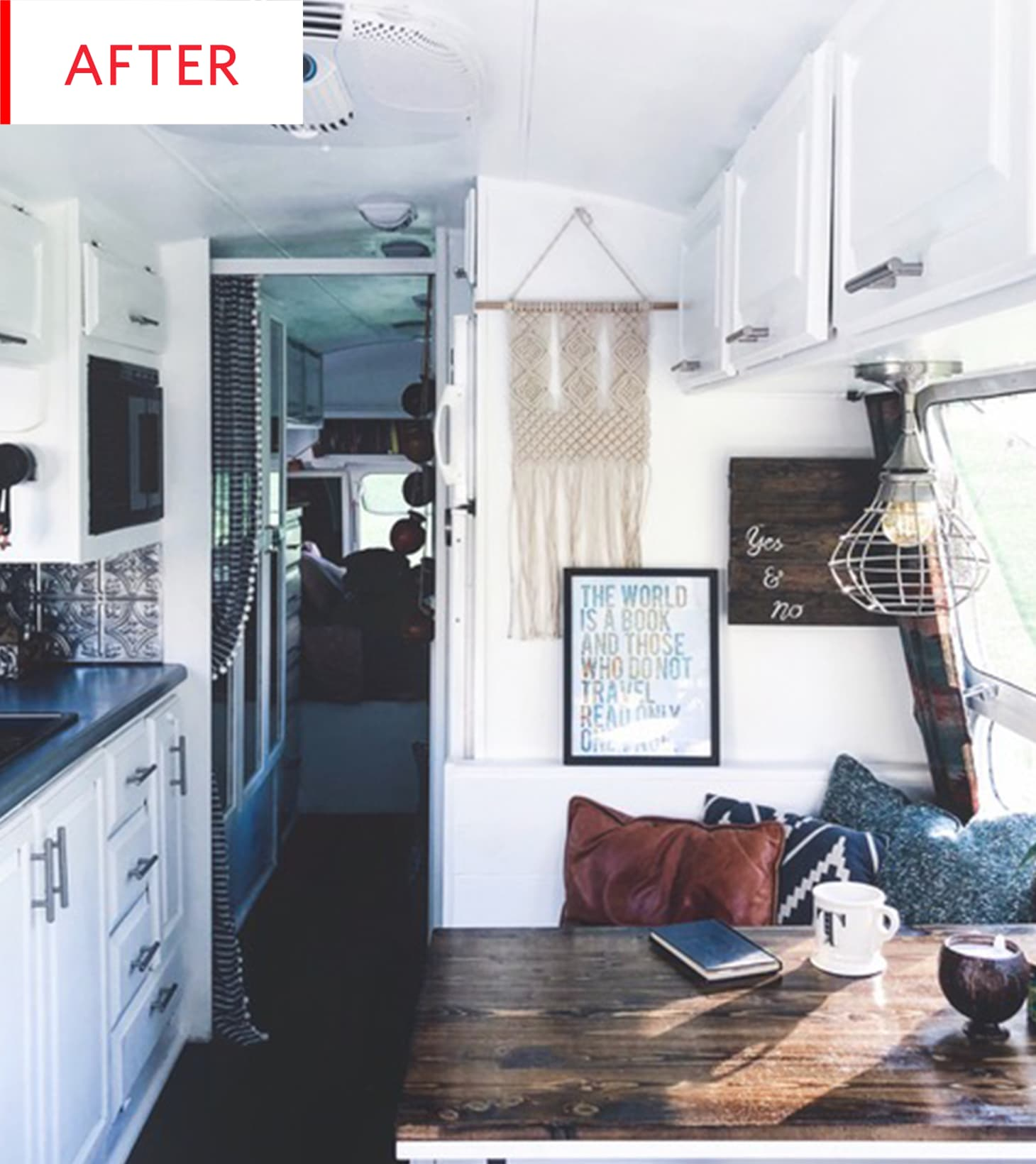 Airstream Trailer Boho Remodel Before And After Apartment