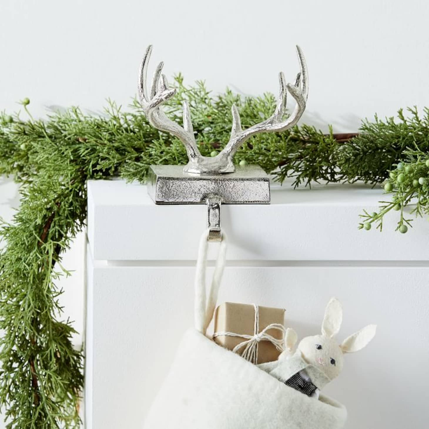 West Elm Christmas Display.The 30 Best Most Beautiful Stocking Holders Apartment Therapy