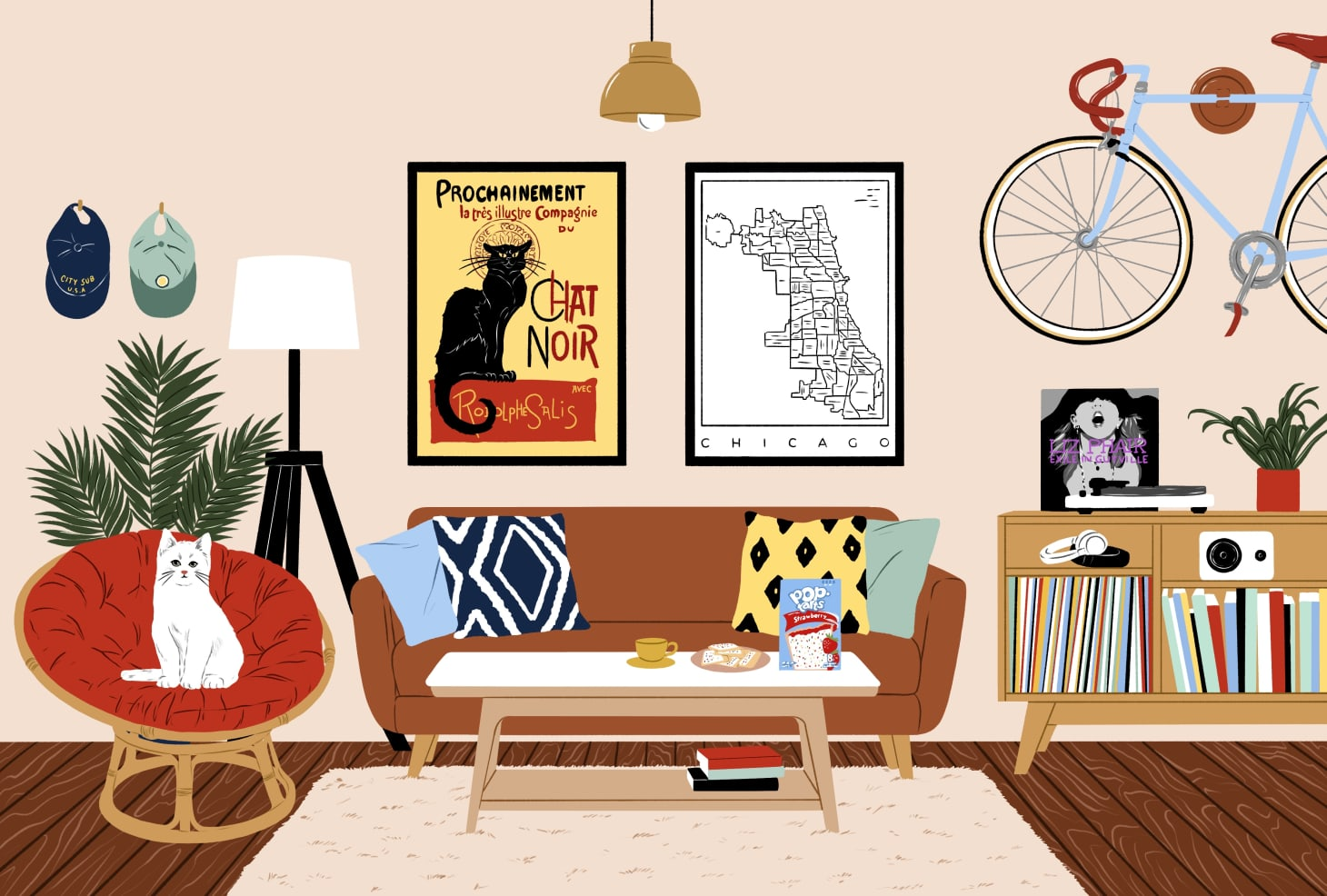 Jon Glaser\'s First Chicago Apartment   Apartment Therapy