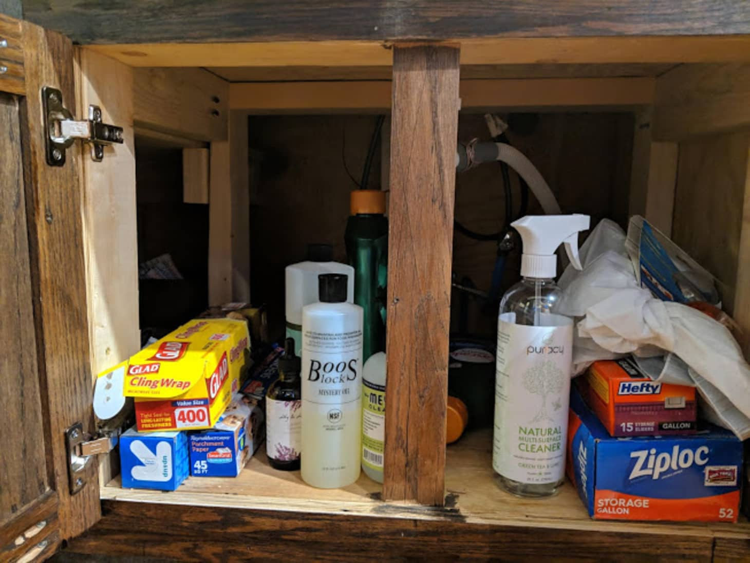 Kitchen Sink Cabinet Organizer Solution | Apartment Therapy