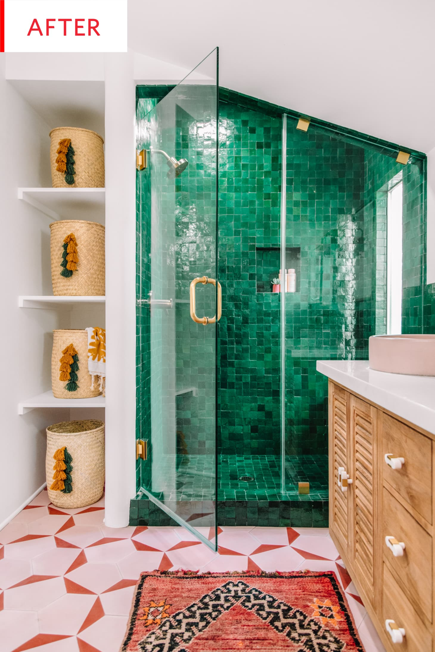 Bohemian Style Bathroom Remodel Before After Photos ...