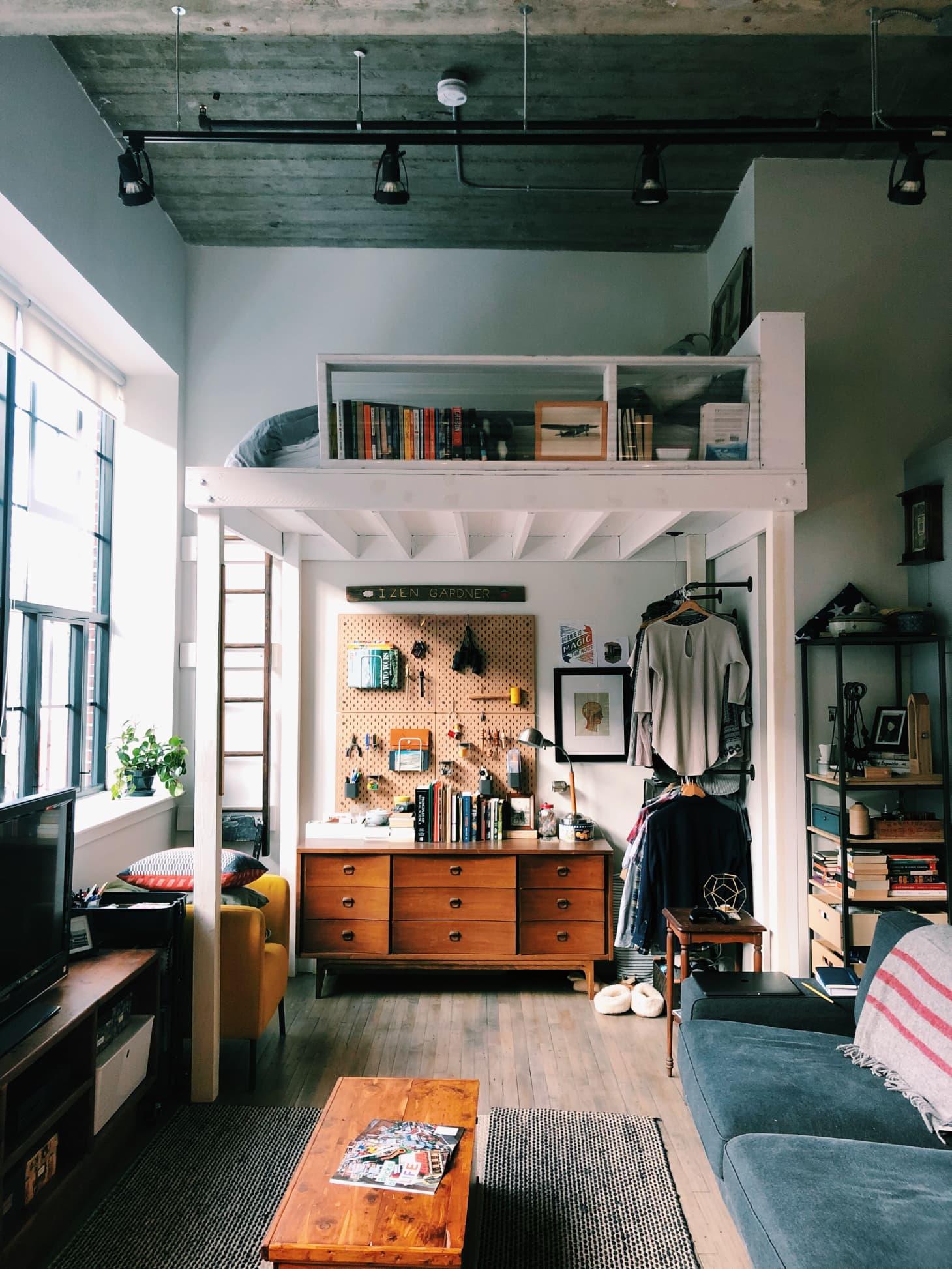 Loft Bedroom Studio Apartment DIY Ideas | Apartment Therapy