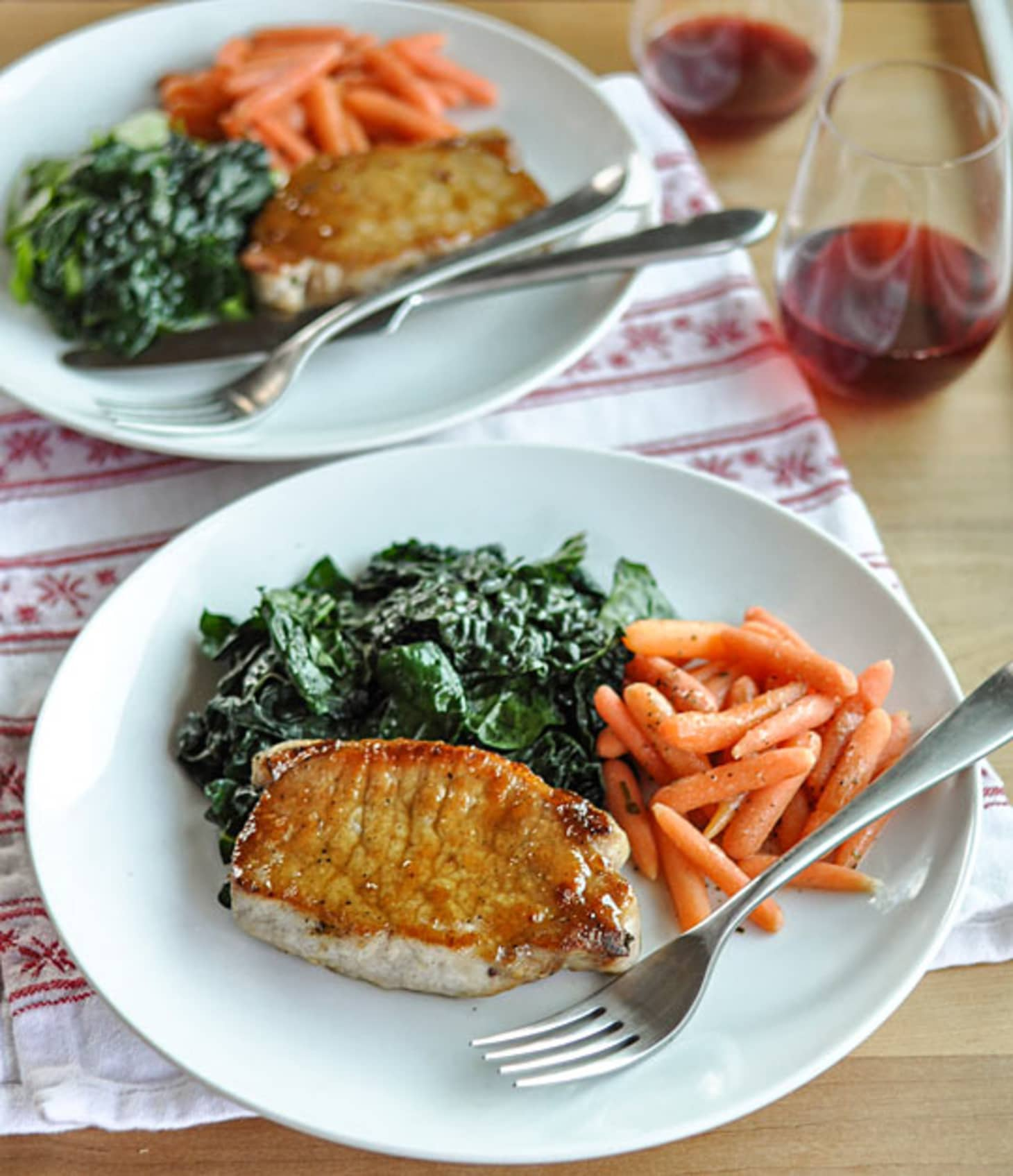 64 Easy Dinner Recipes For Two: Dinner-for-Two Recipe: Sage-Brined Pork Chops With Brown