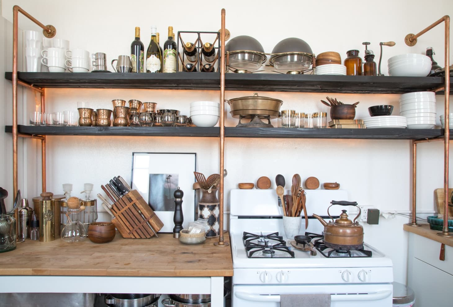 DIY Copper Kitchen Shelves Made with Parts from Home Depot ...