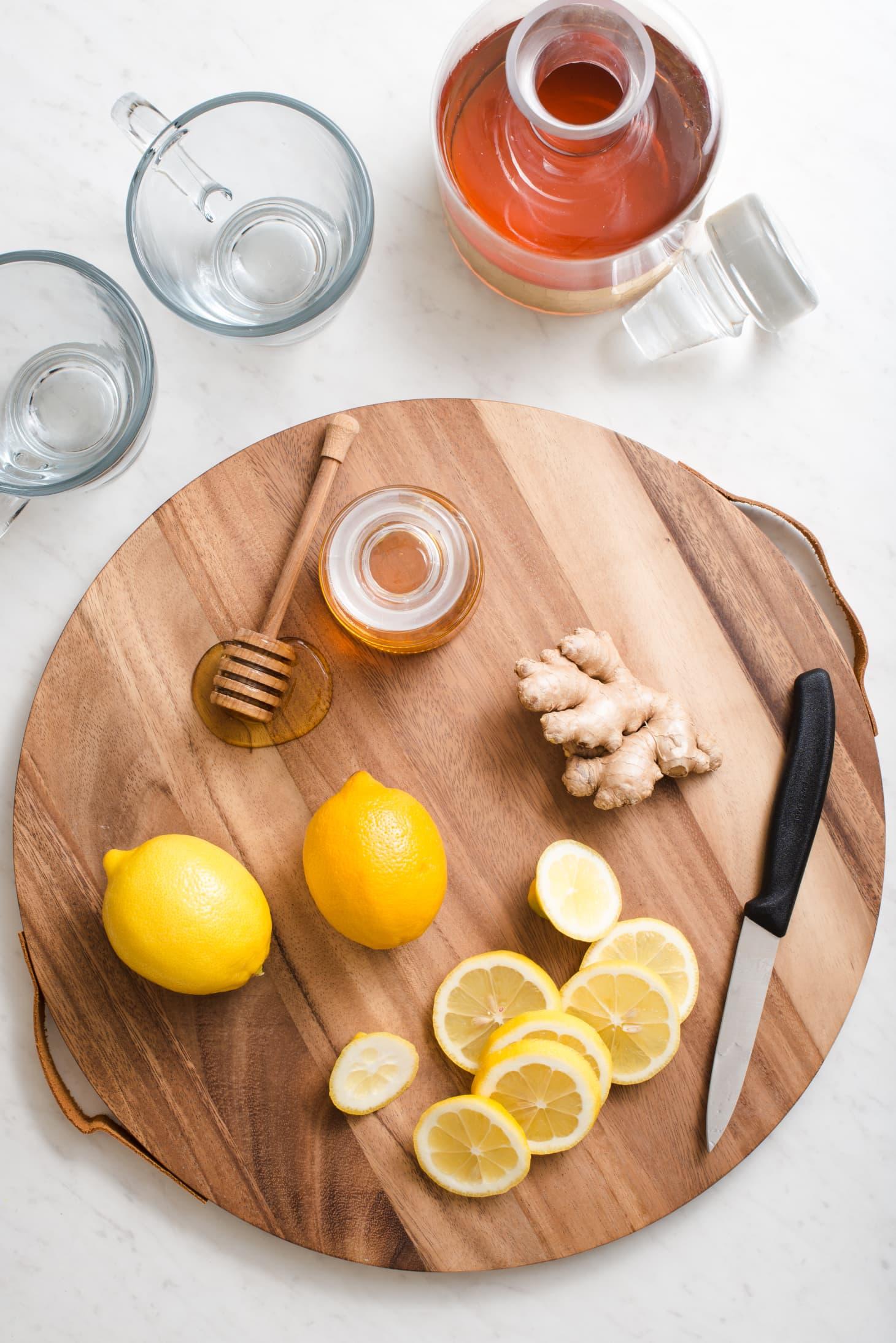 Flu Season Ginger Honey Lemon Tonic