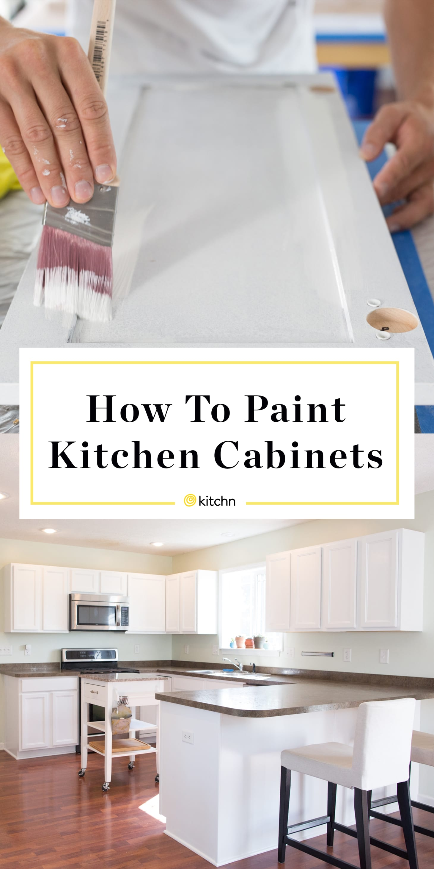 Fine How To Paint Wood Kitchen Cabinets With White Paint Kitchn Interior Design Ideas Jittwwsoteloinfo