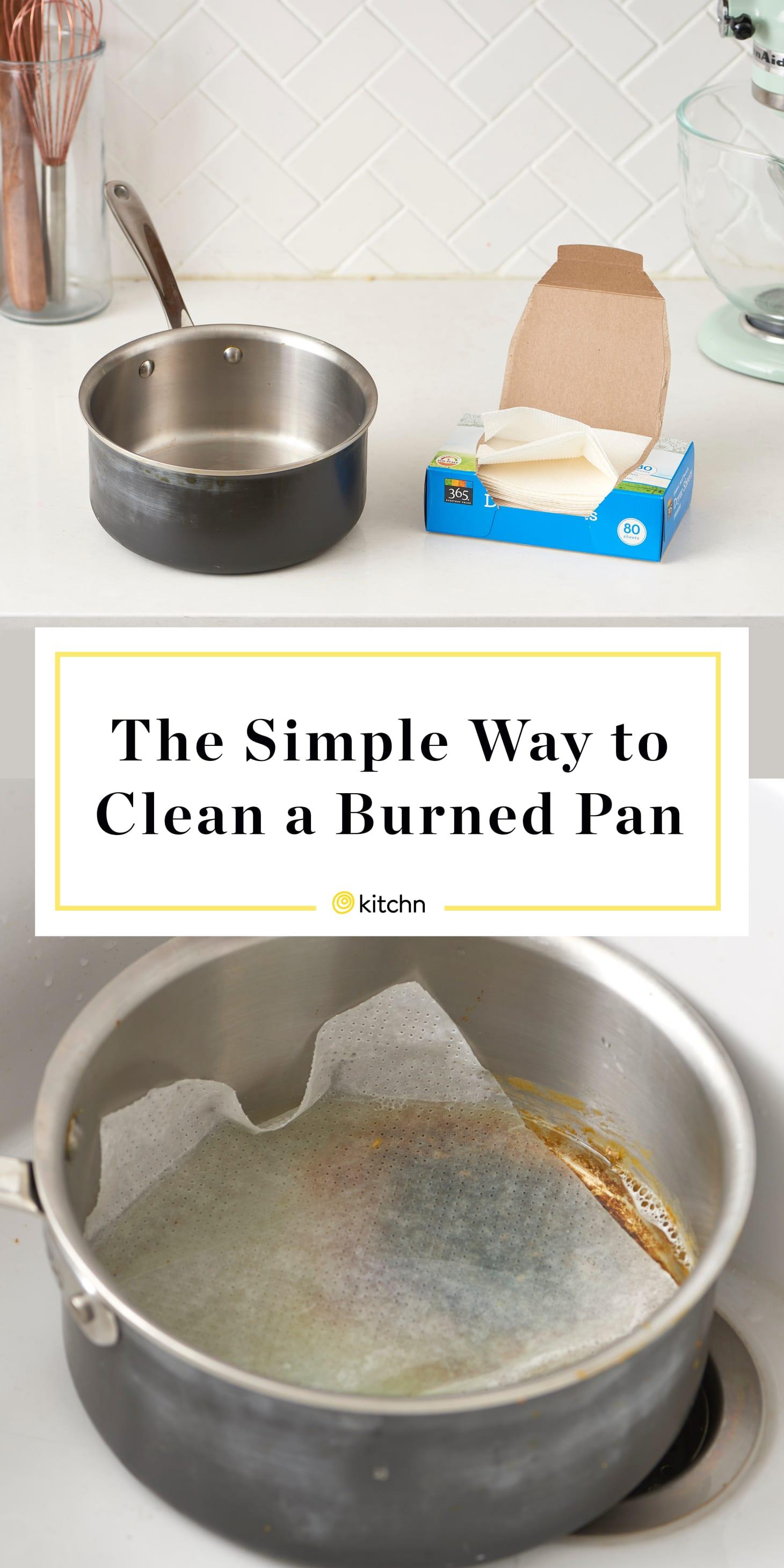 Clean a Scorched Pot - Tip Dryer Sheet Hack | Kitchn
