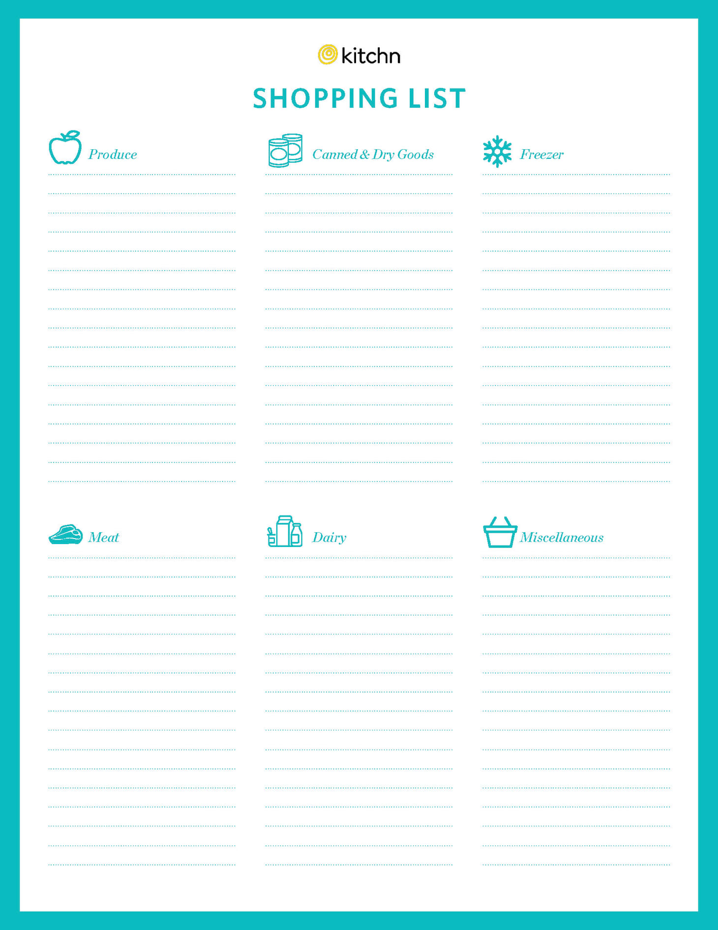 It is a graphic of Gargantuan Printable Grocery List Template