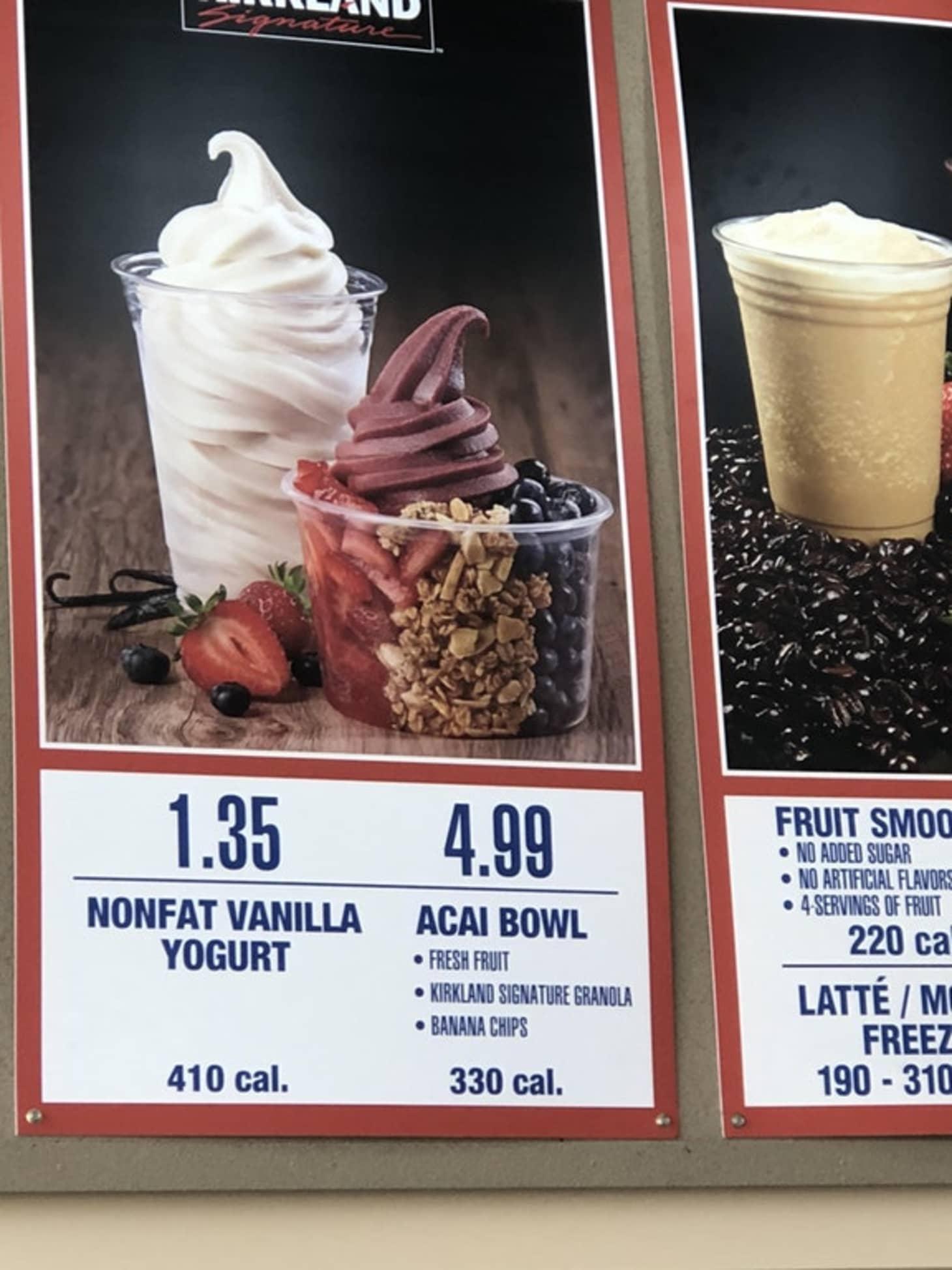 Costco New Acai Bowl - California Food Court Menu | Kitchn