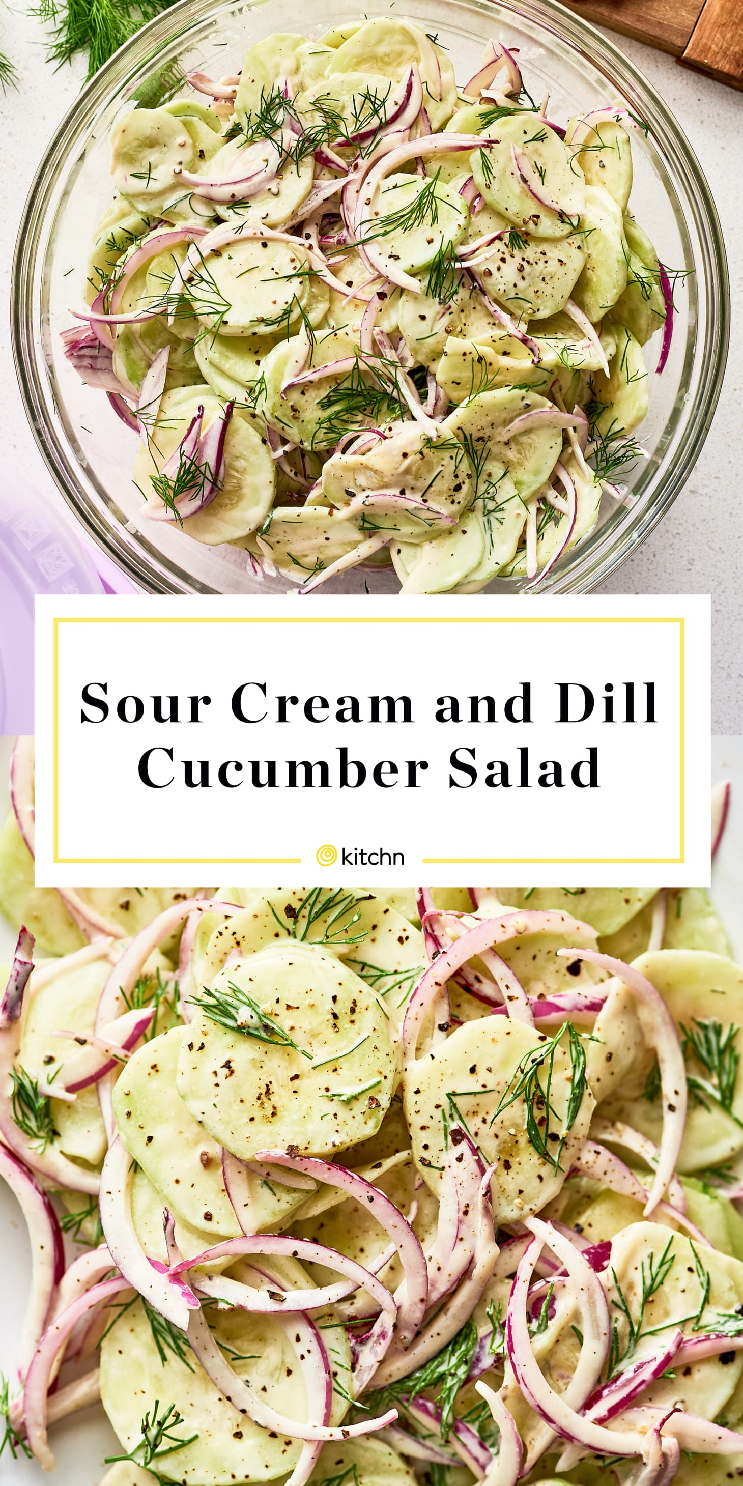Sour Cream and Dill Cucumber Salad