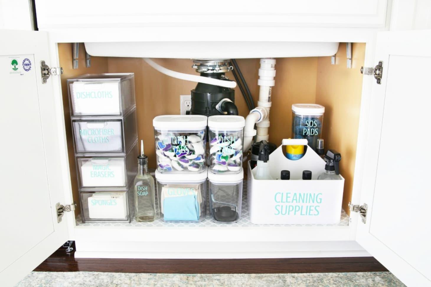 Organize Under Kitchen Sink - Tips Ideas | Kitchn