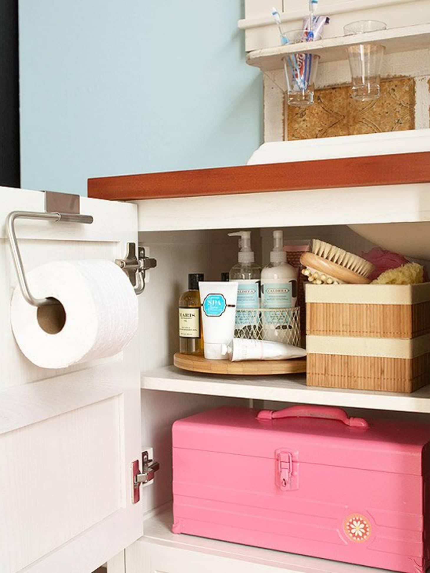 Bathroom Storage Ideas - Storage For Small Bathrooms ... on Small Apartment Bathroom Storage Ideas  id=48095