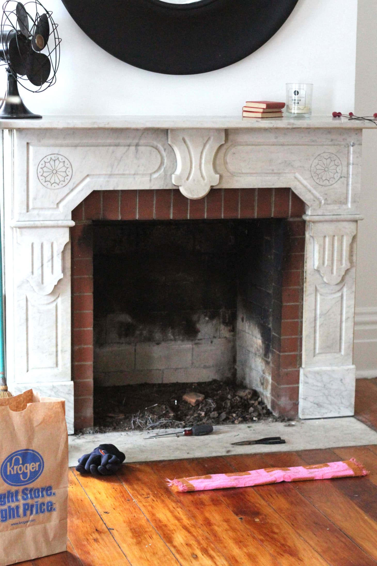 how to clean a brick fireplace with natural cleaners | apartment therapy