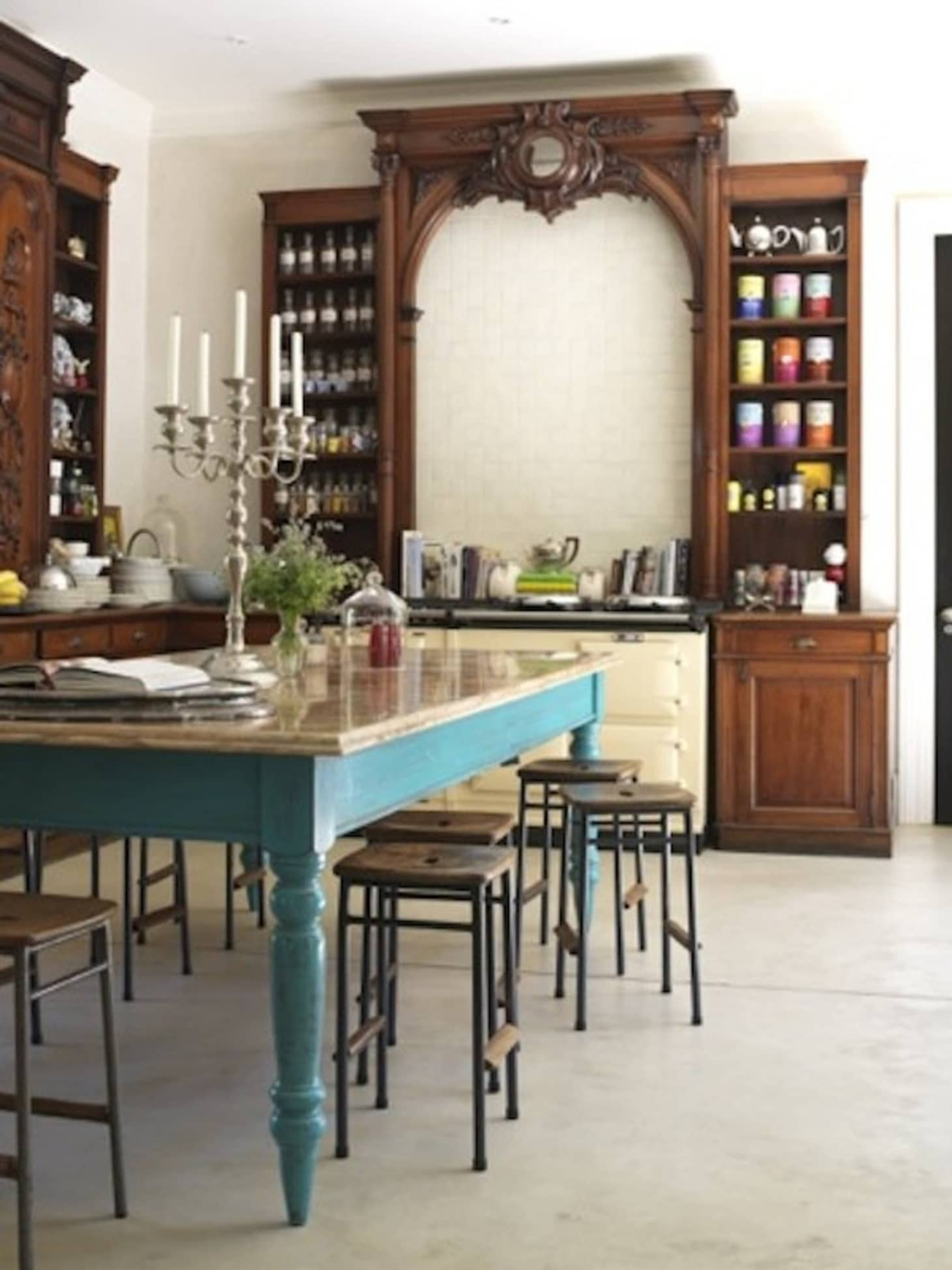 A Healthy Dose of Drama: Kitchens that Use Antique ...