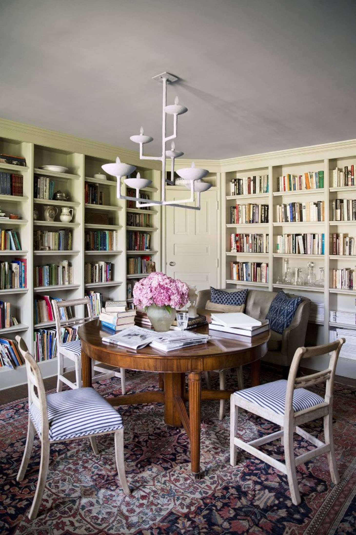 Turn Your Dining Room Into A Library Apartment Therapy