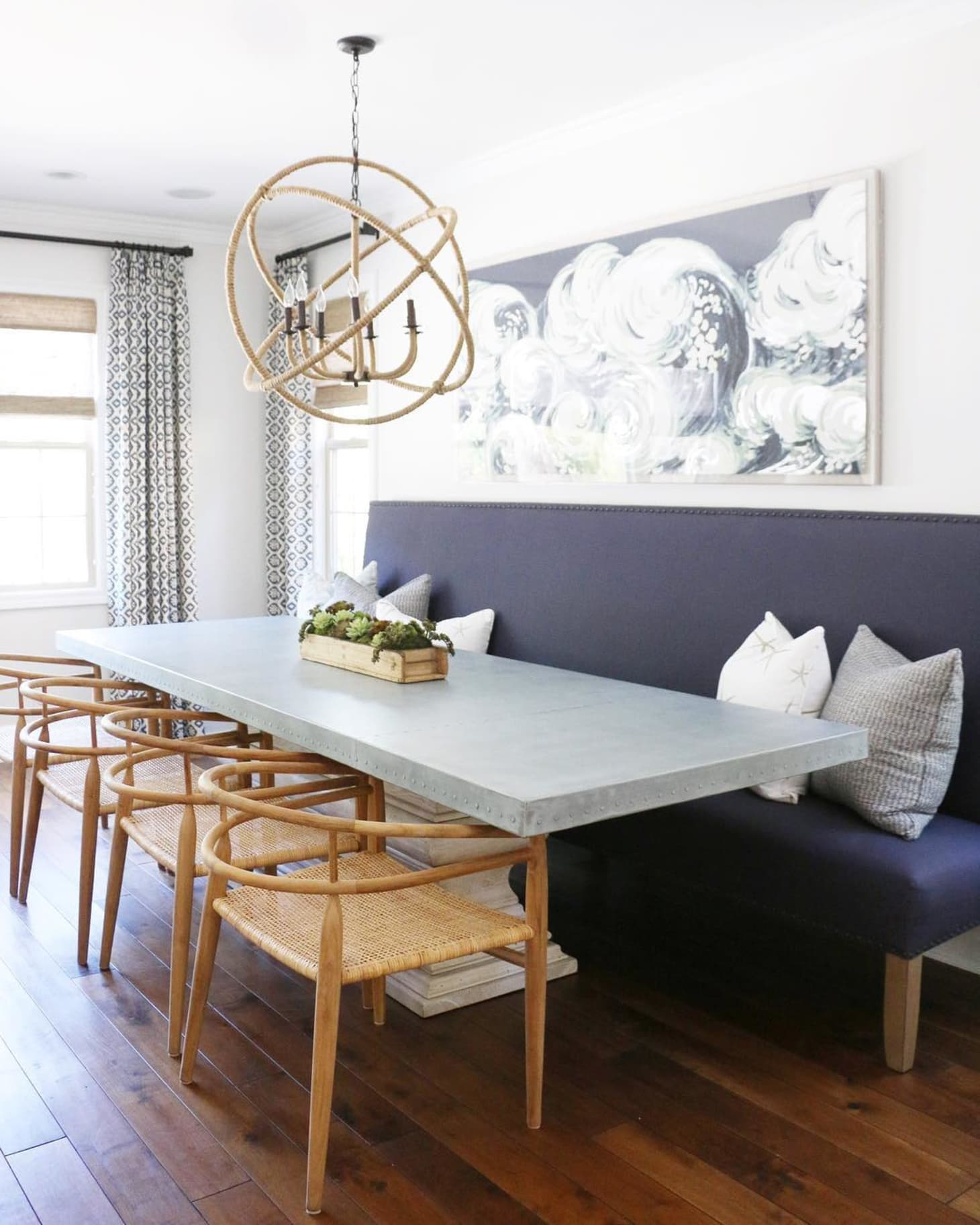 Dining Room Ideas: Try A Banquette In Place Of Chairs For