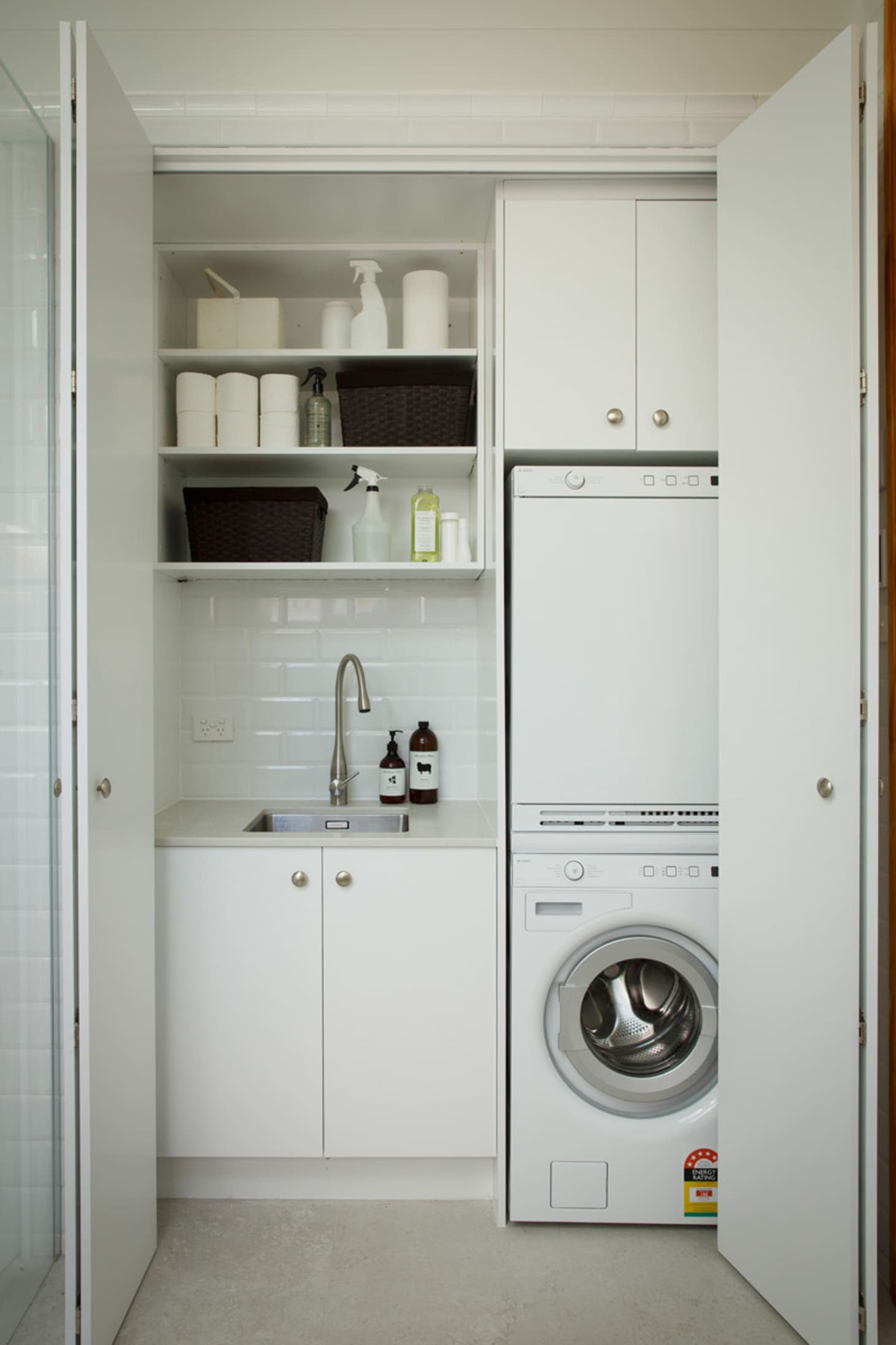 Small Laundry Room Remodeling and Storage Ideas ... on Small Laundry Ideas  id=95395