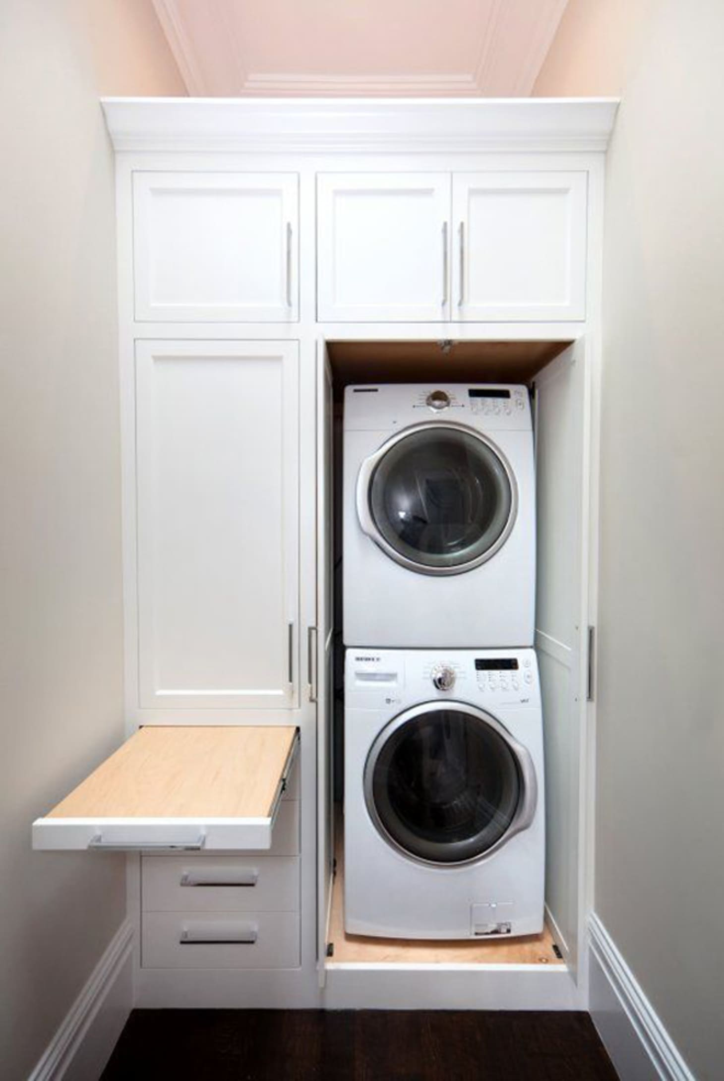 Small Laundry Room Remodeling and Storage Ideas ... on Laundry Cabinet Ideas  id=37029